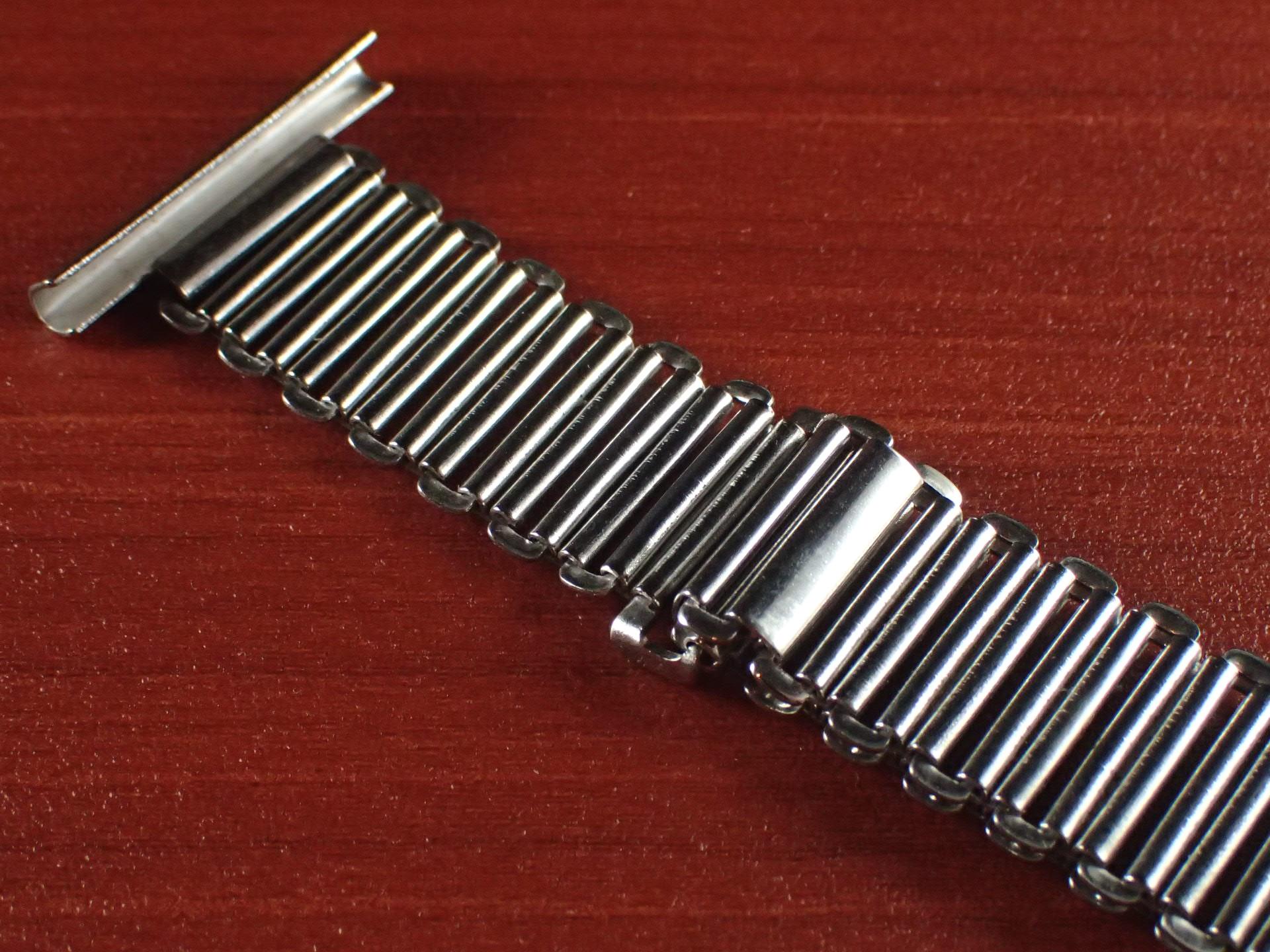 ボンクリップ バンブーブレス NOS 筆記体ロゴ リンク13mm 取付幅20mm SS 1940年代の写真4枚目