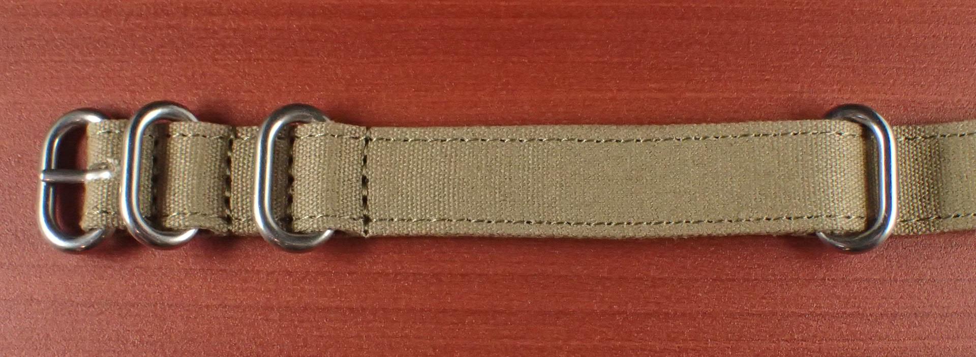 コットンベルト NATO カーキ 18、20、22、24mm
