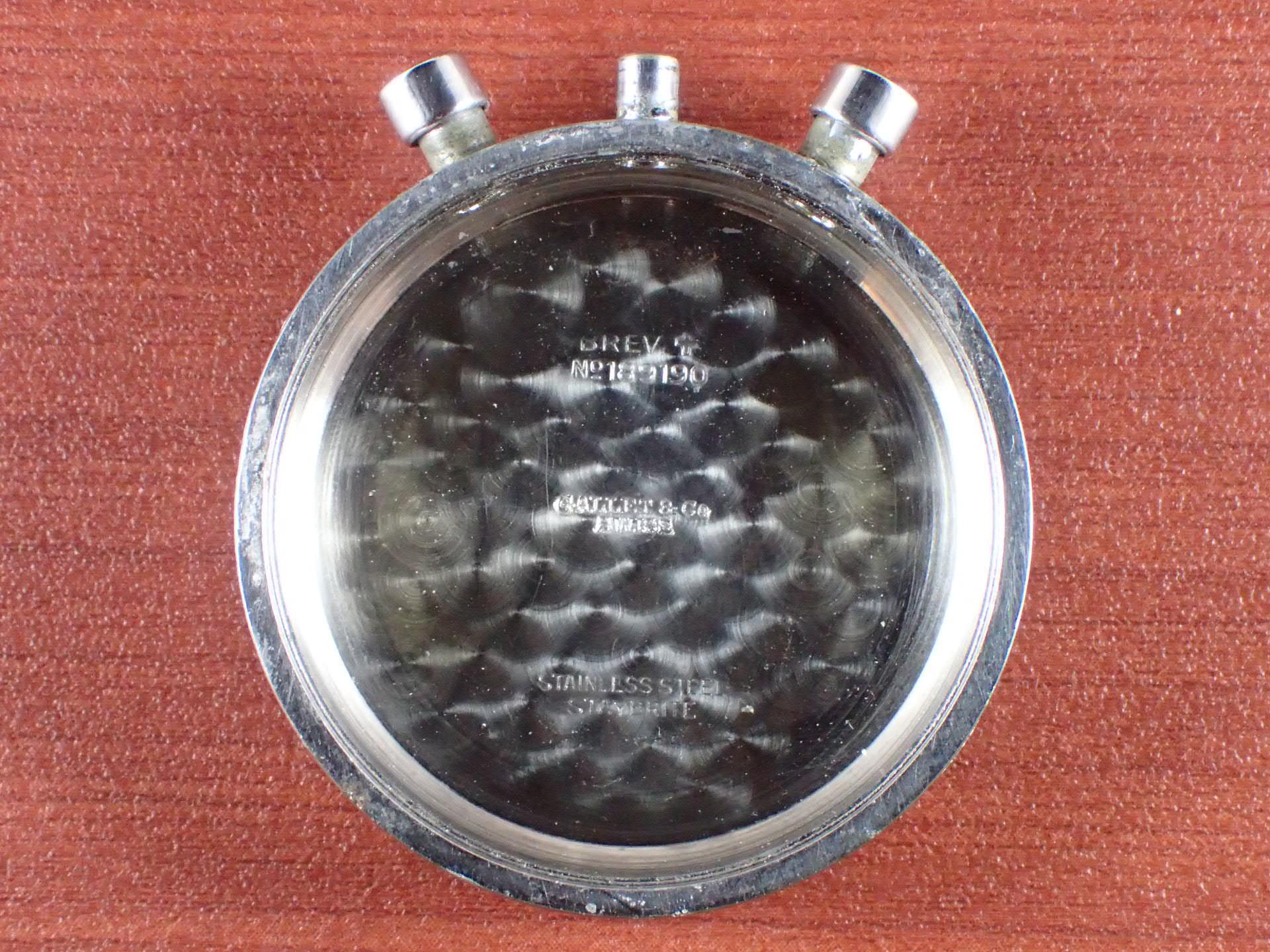 ギャレット マルチクロン クラムシェルケース ブラックダイアル 1940年代の写真6枚目
