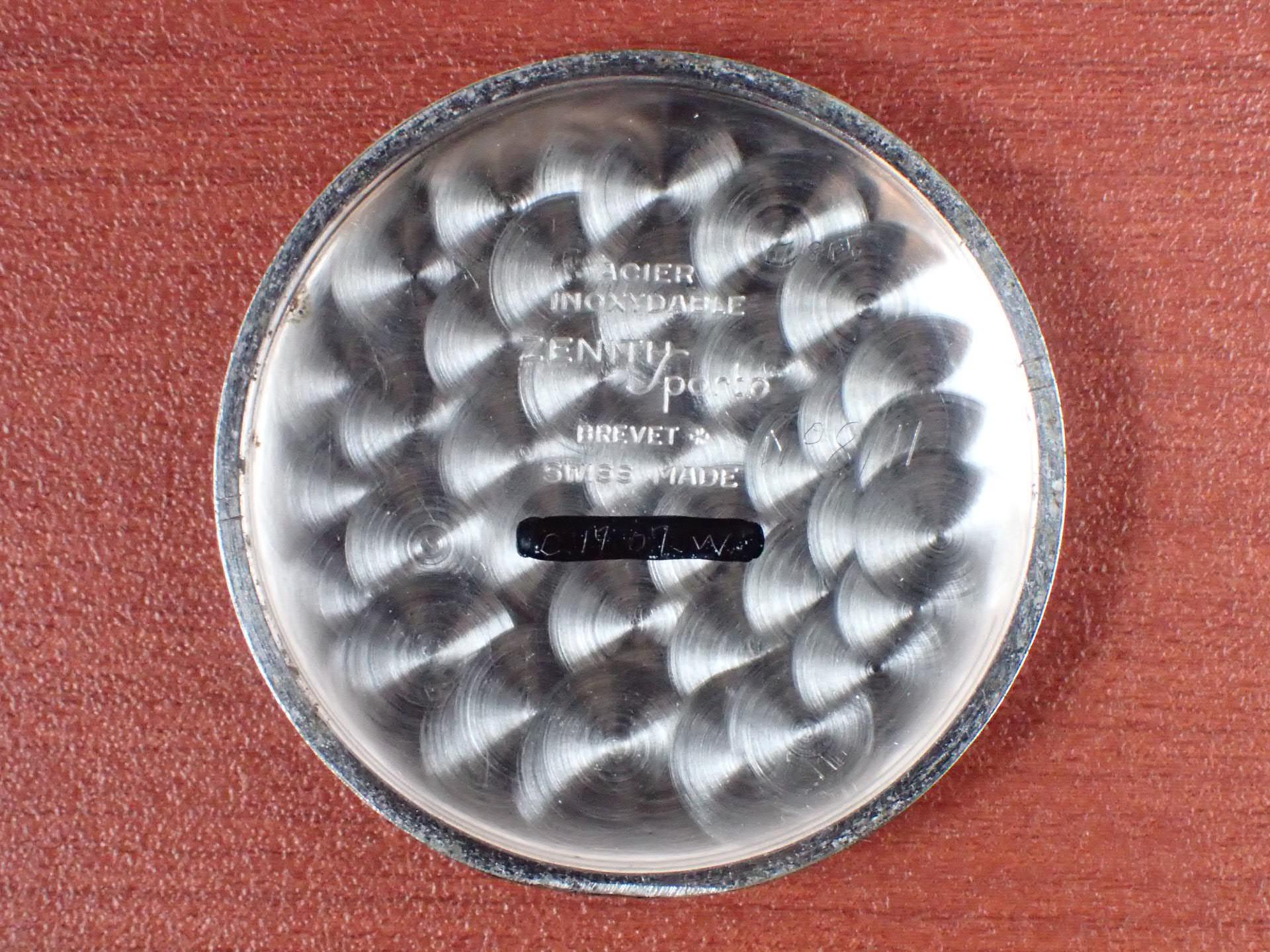 ゼニス スポルト ホワイトダイアル スモールセコンド 1940年代の写真6枚目