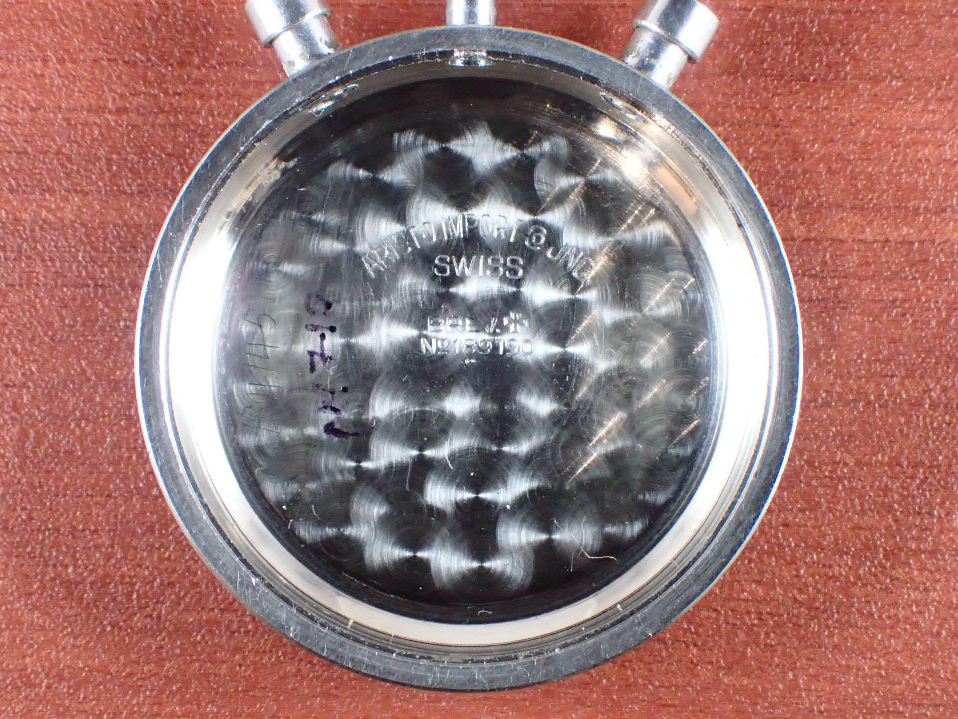アリスト クロノグラフ バルジュー23 クラムシェルケース 1940年代の写真6枚目