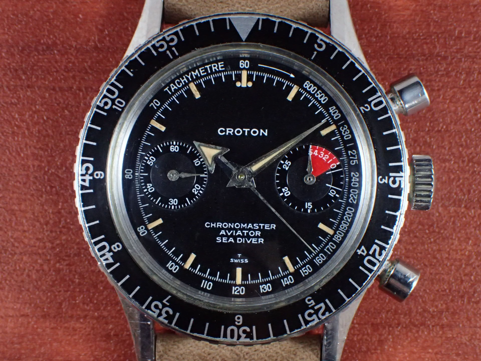 クロトン クロノマスター シーダイバー クロノグラフ バルジュー23 1960年代の写真2枚目