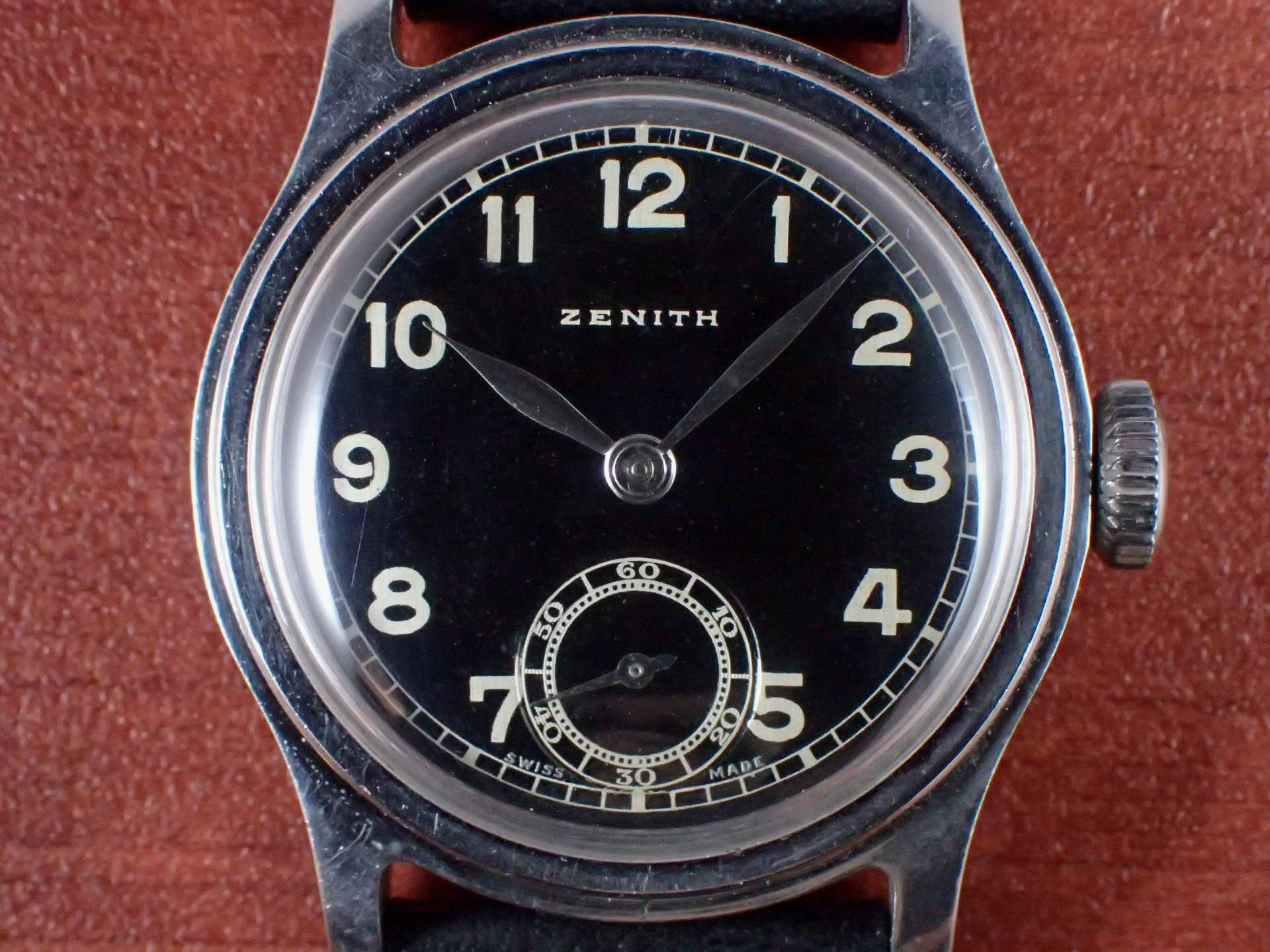ゼニス ボーイズ ステップドベゼル FBケース ブラックミラーDL 1940年代の写真2枚目
