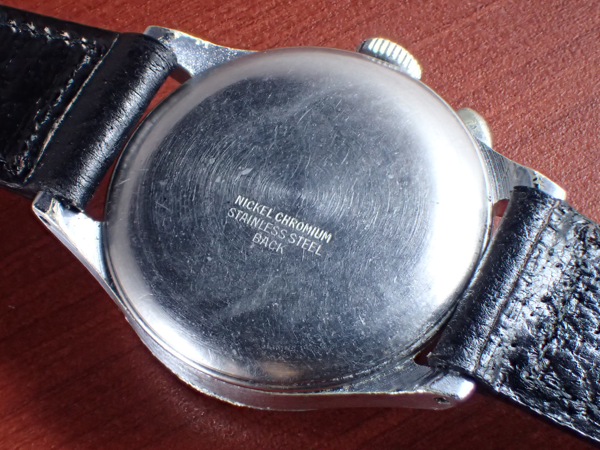 ハーマン シングルプッシュ ベビークロノグラフ ブラックミラーDL 1930年代の写真4枚目