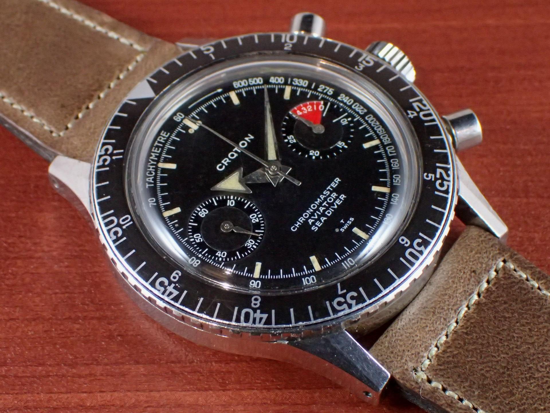 クロトン クロノマスター シーダイバー クロノグラフ バルジュー23 1960年代のメイン写真