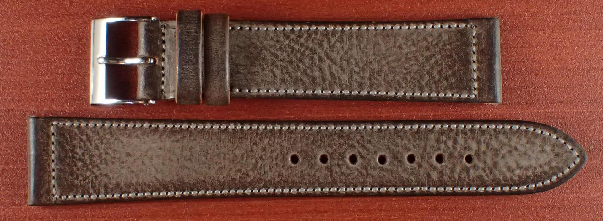 ブライドルレザーベルト ラ・ペルラ・アッズーラ アラスカ ダークブラウン 16、17、18、19、20mm