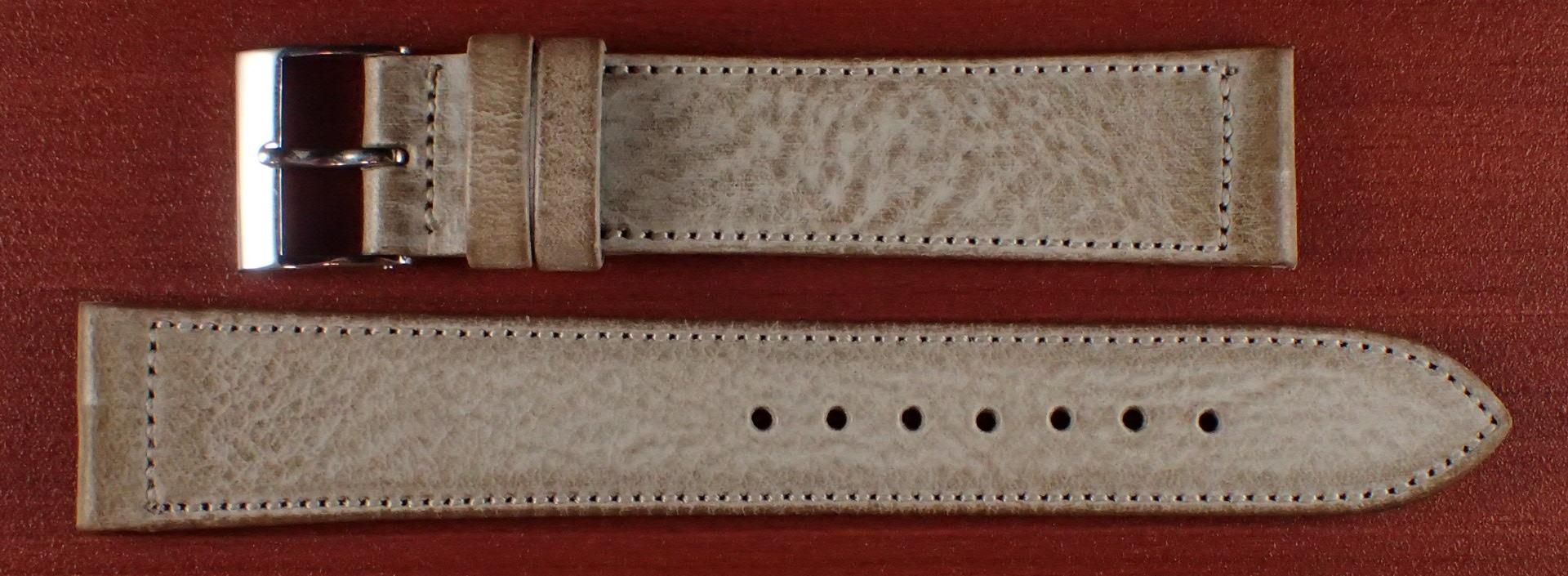 ブライドルレザーベルト ラ・ペルラ・アッズーラ アラスカ ナチュラル 16、17、18、19、20mm