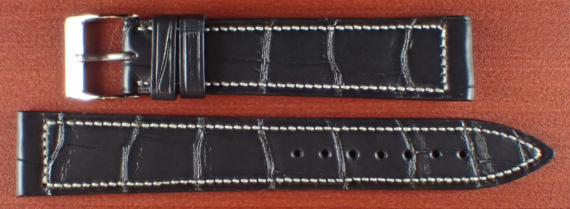 ジャン・クロード ペラン革ベルト クロコダイル ダークグレー 18mm