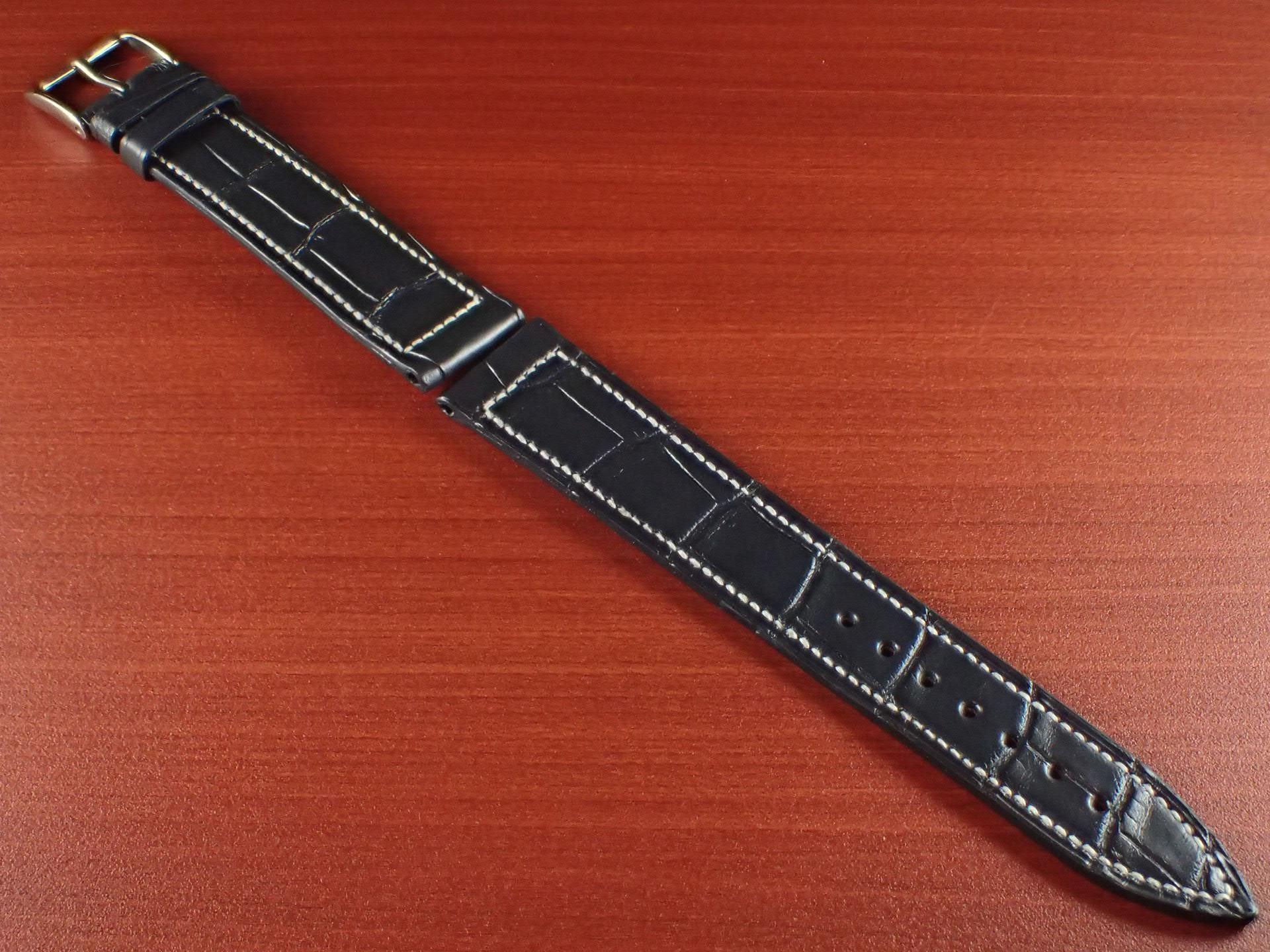 ジャン・クロード ペラン革ベルト クロコダイル ダークグレー 18mmのメイン写真