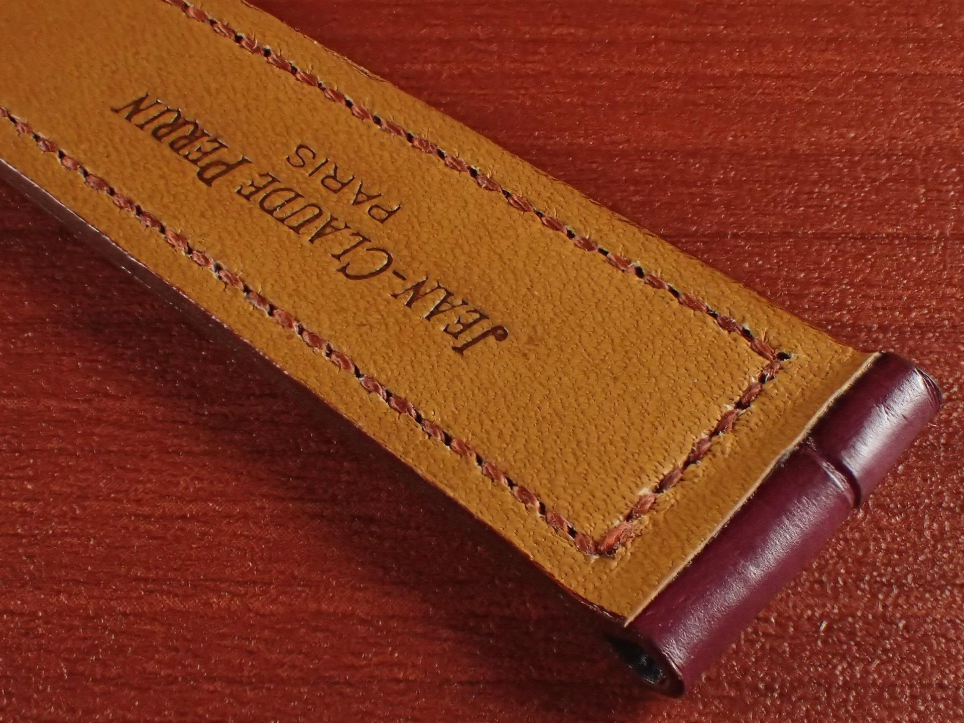 ジャン・クロード ペラン革ベルト クロコダイル ボルドー 18mmの写真6枚目