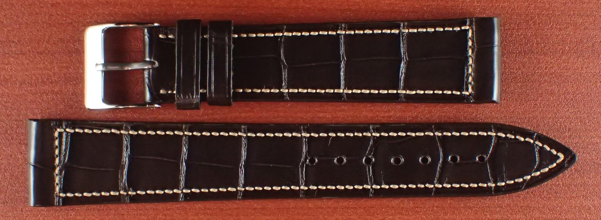 ジャン・クロード ペラン革ベルト クロコダイル チョコレート 18mm