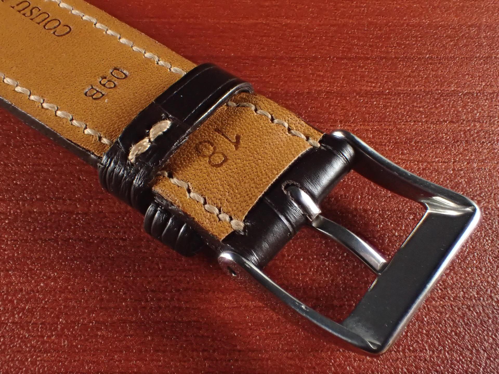 ジャン・クロード ペラン革ベルト クロコダイル チョコレート 18mmの写真4枚目