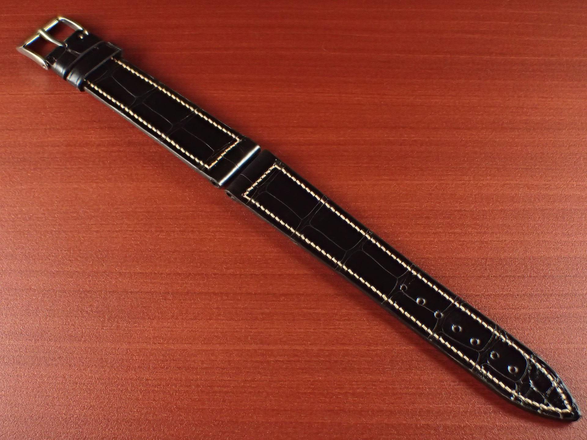 ジャン・クロード ペラン革ベルト クロコダイル チョコレート(シャイニー) 18mmのメイン写真
