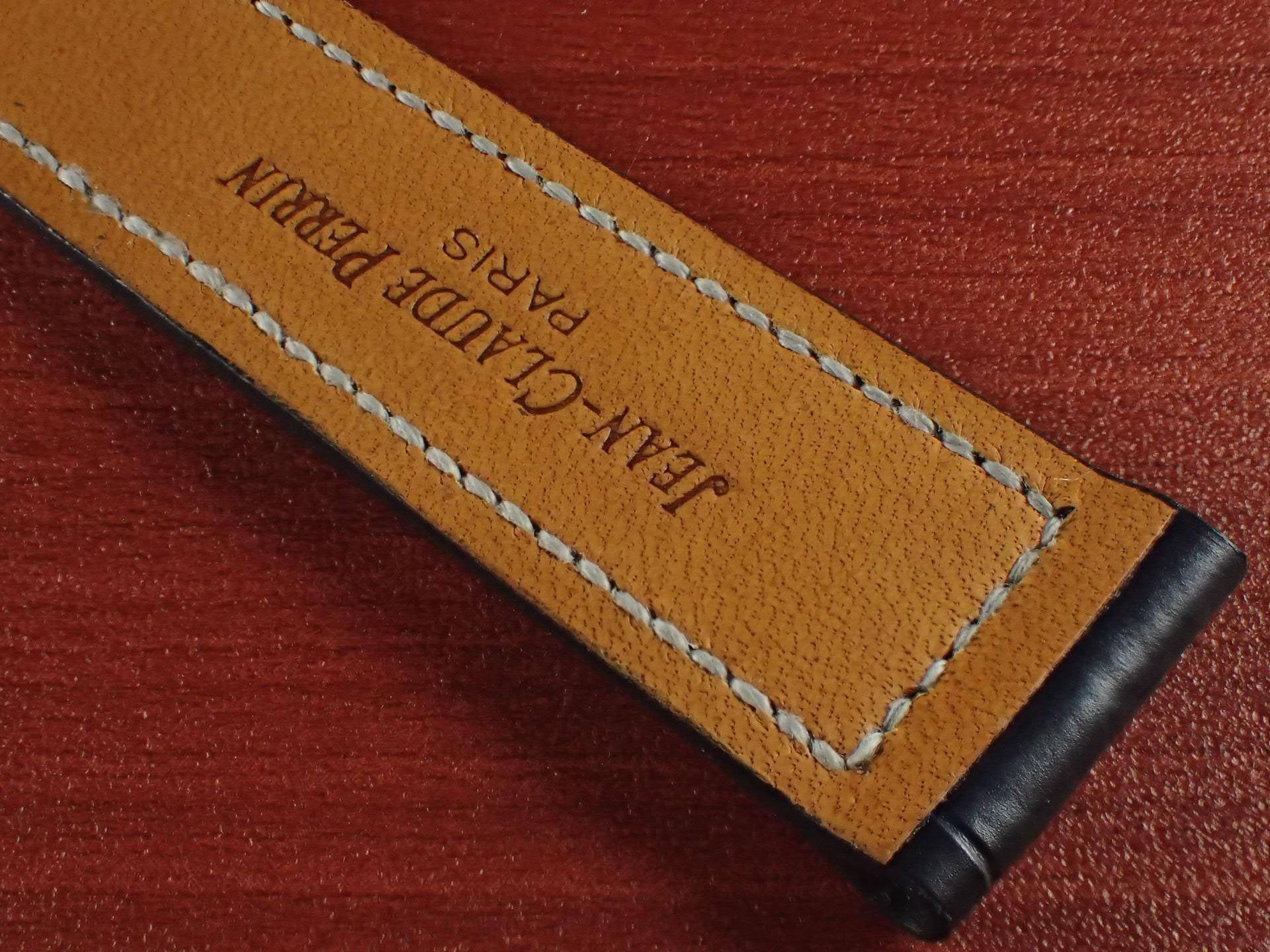 ジャン・クロード ペラン革ベルト クロコダイル ミッドナイトブルー 18mmの写真6枚目