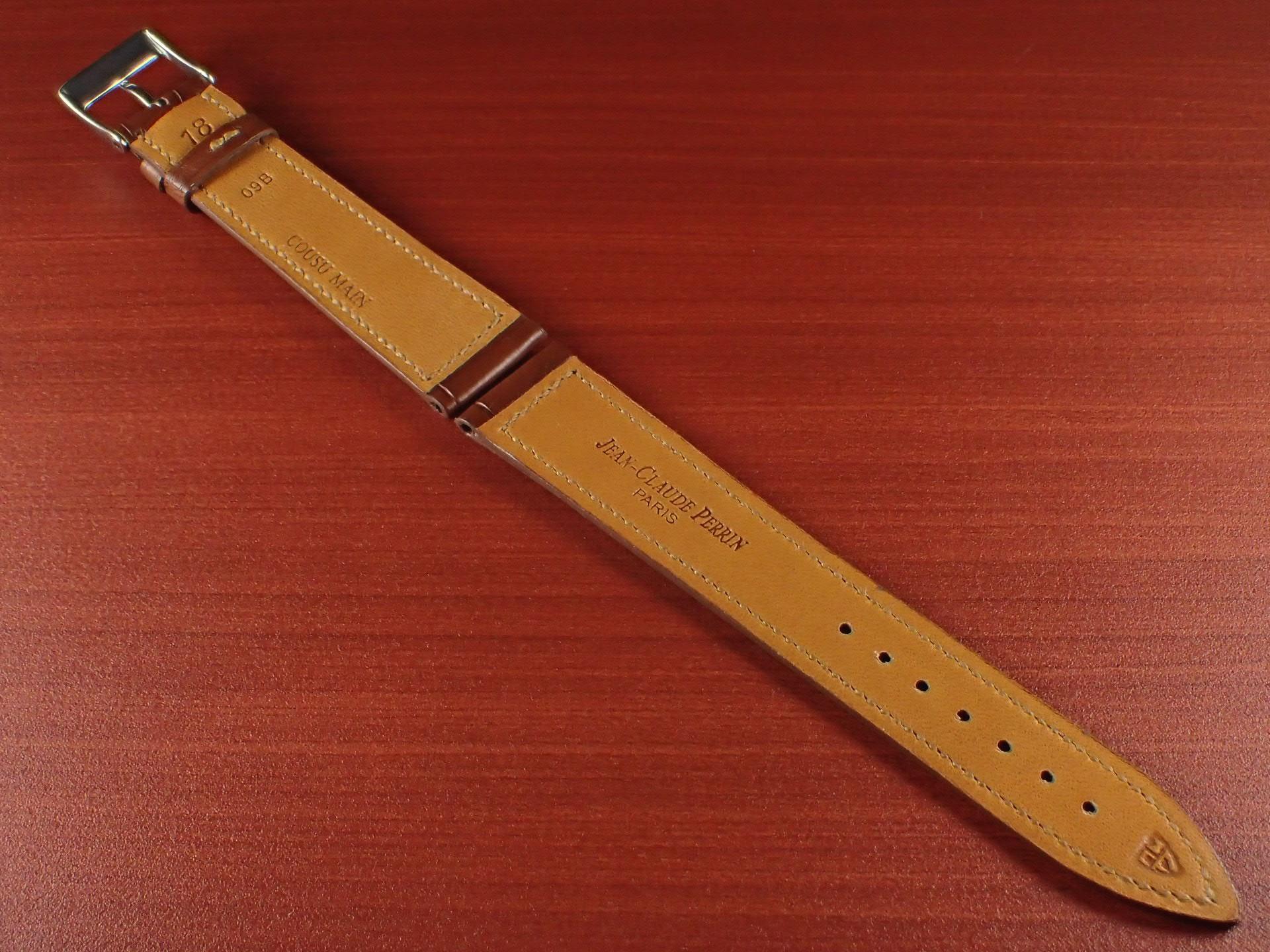 ジャン・クロード ペラン革ベルト クロコダイル ライトブラウン 18mmの写真2枚目