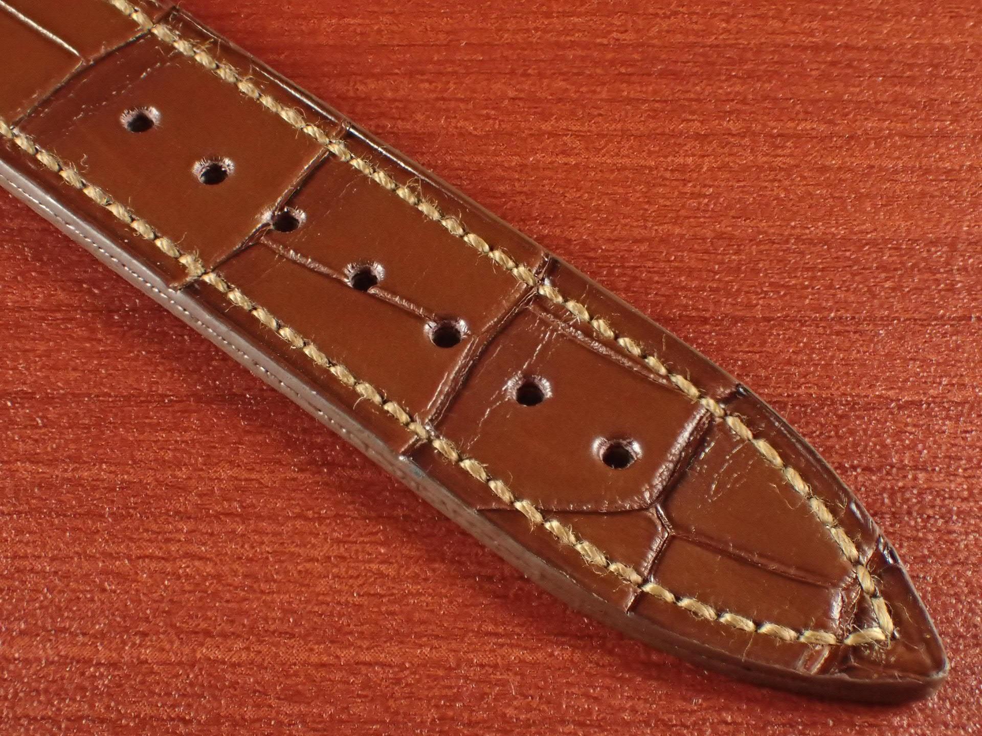 ジャン・クロード ペラン革ベルト クロコダイル ライトブラウン 18mmの写真5枚目