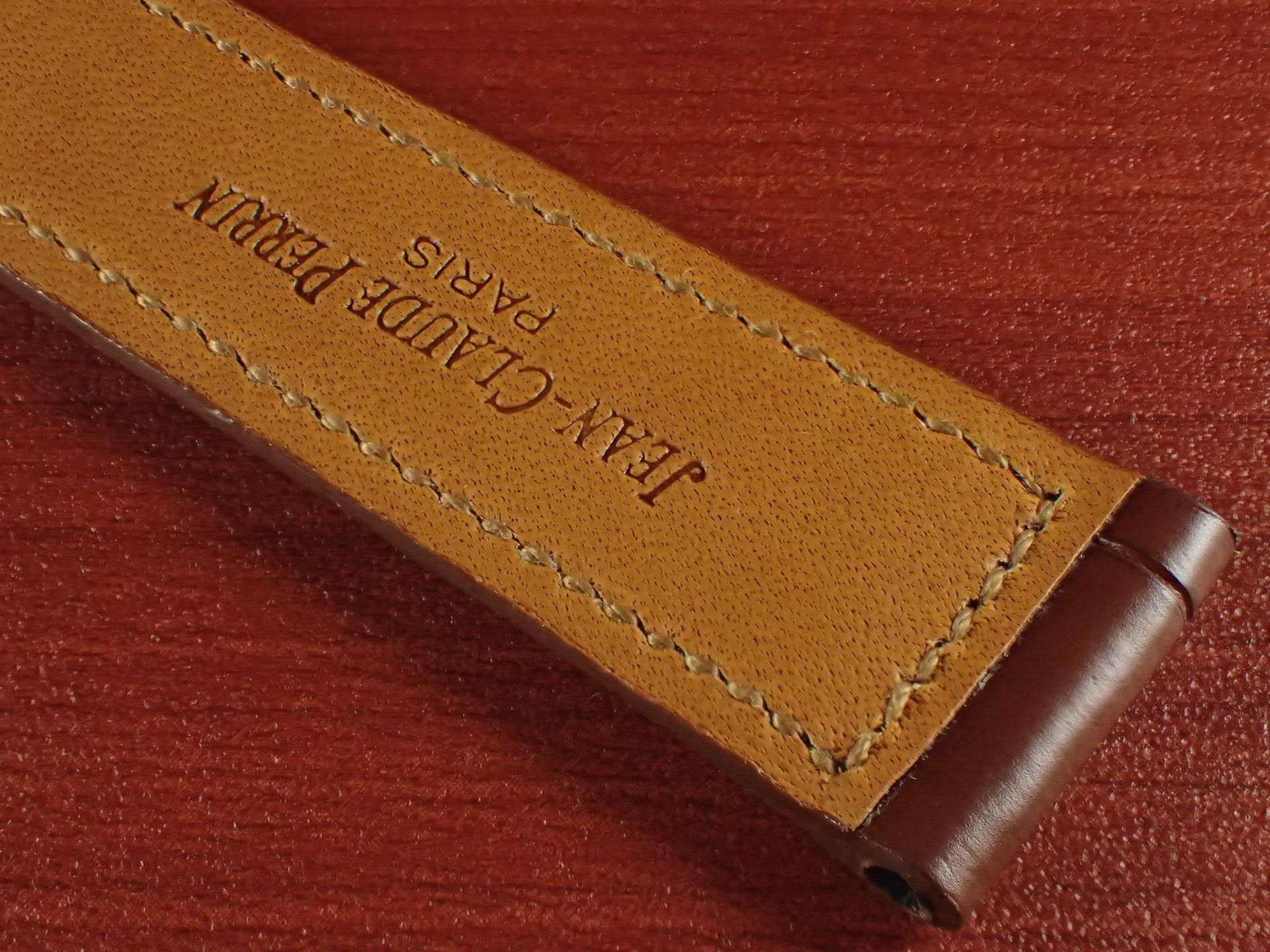ジャン・クロード ペラン革ベルト クロコダイル ライトブラウン 18mmの写真6枚目