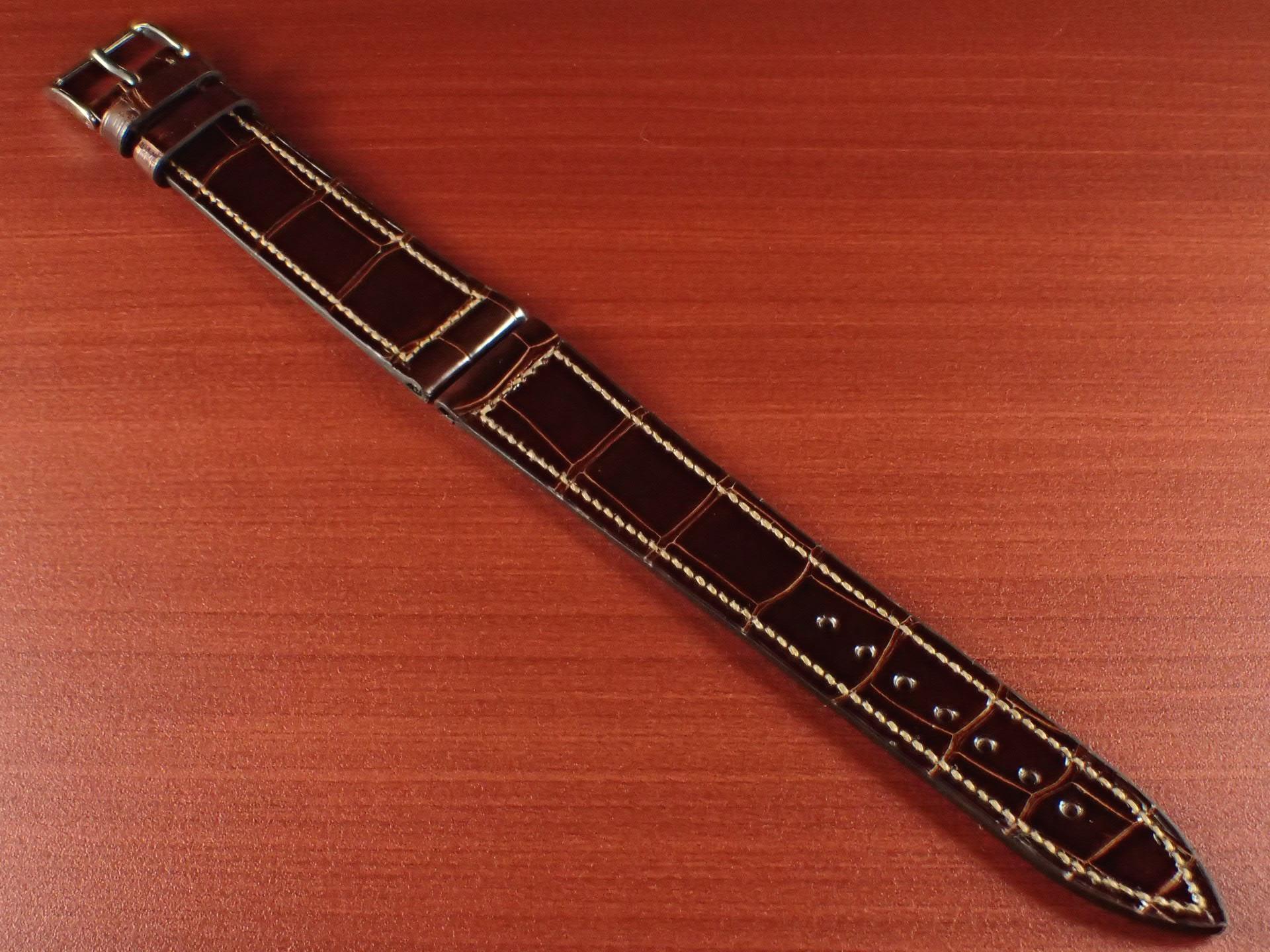 ジャン・クロード ペラン革ベルト クロコダイル タバコブラウン(シャイニー) 18mmのメイン写真