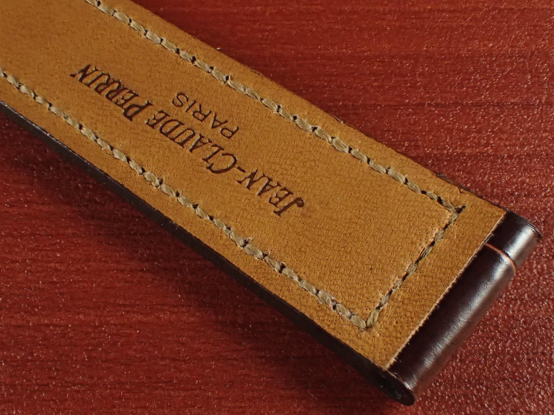 ジャン・クロード ペラン革ベルト クロコダイル タバコブラウン(シャイニー) 18mmの写真6枚目