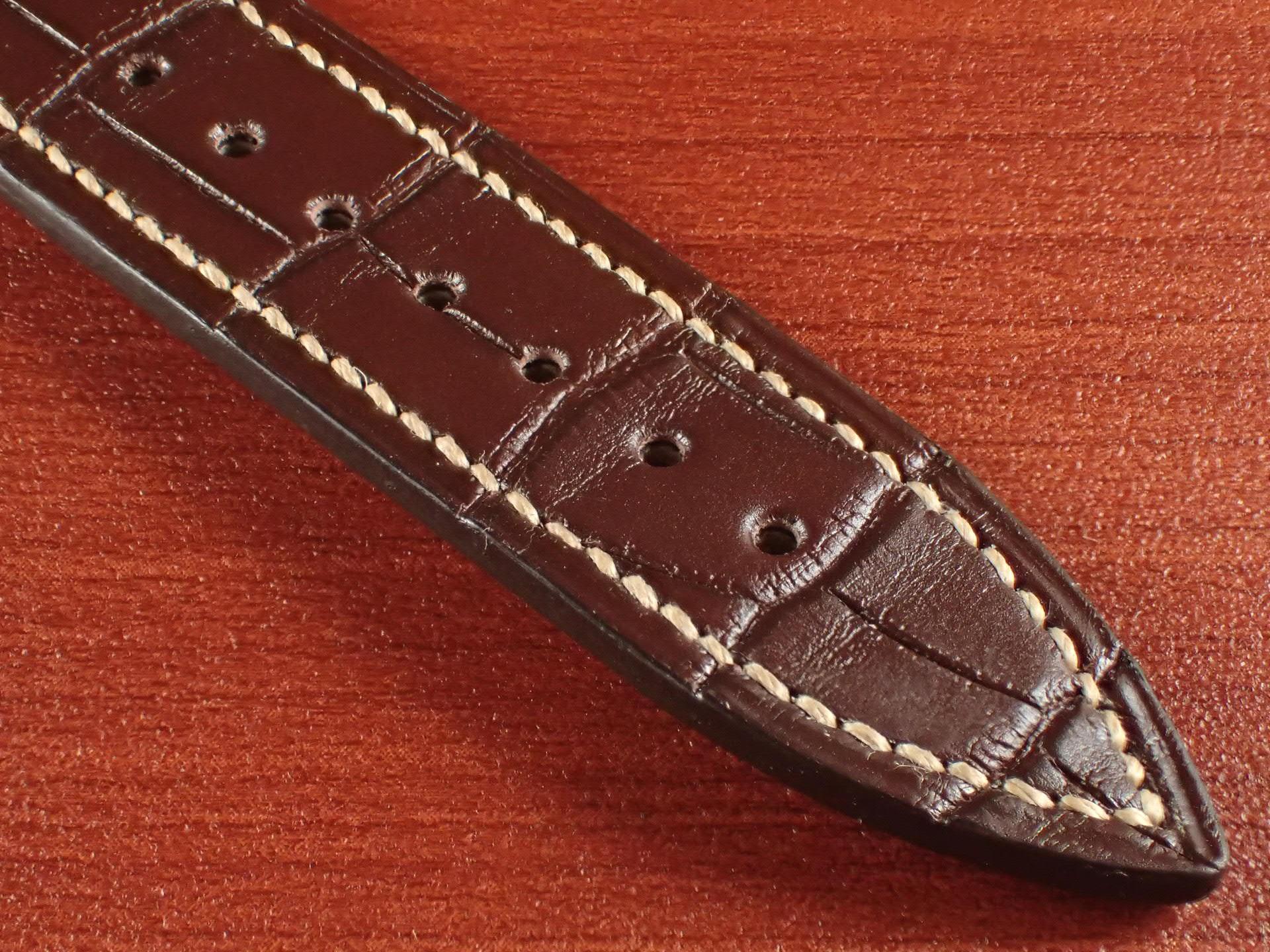 ジャン・クロード ペラン革ベルト クロコダイル ダークブラウン 18mmの写真5枚目