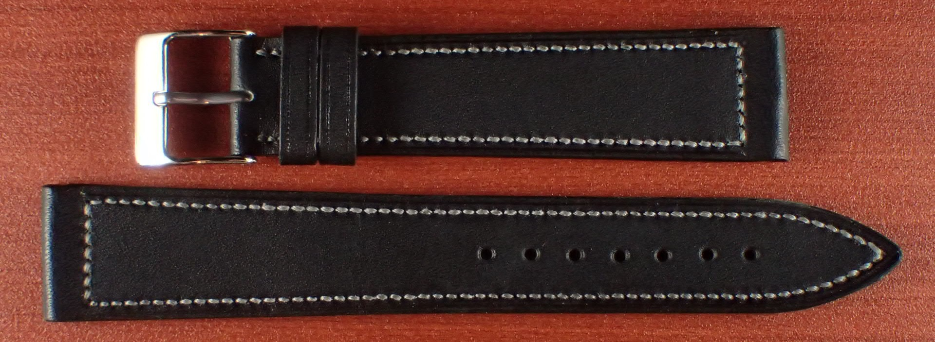ジャン・クロード ペラン革ベルト カーフ ブラック 16、17、18、19、20mm