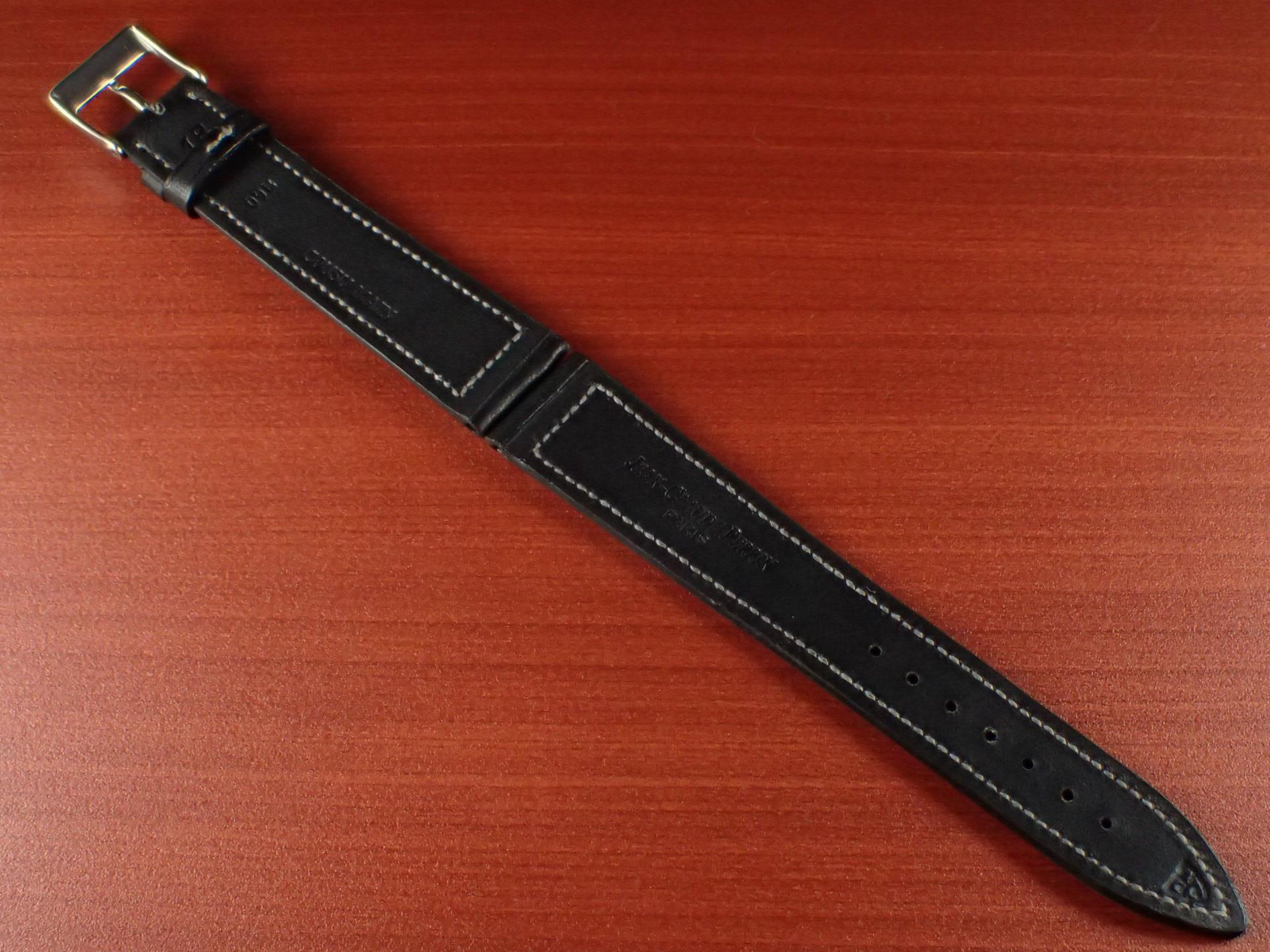 ジャン・クロード ペラン革ベルト カーフ ブラック 16、17、18、19、20mmの写真2枚目
