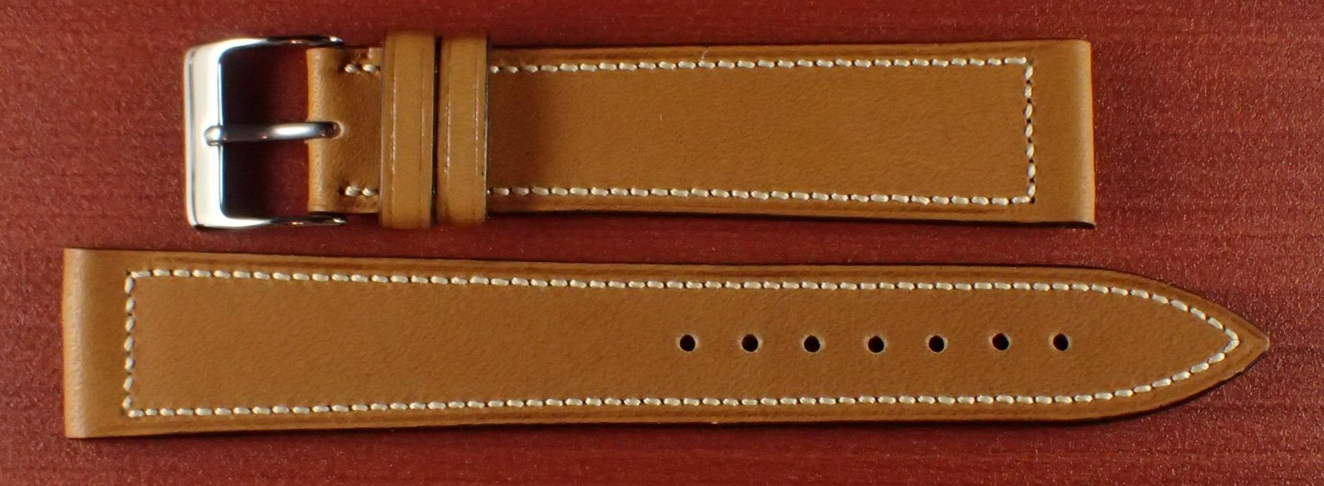 ジャン・クロード ペラン革ベルト カーフ キャメル 16、17、18、19、20mm