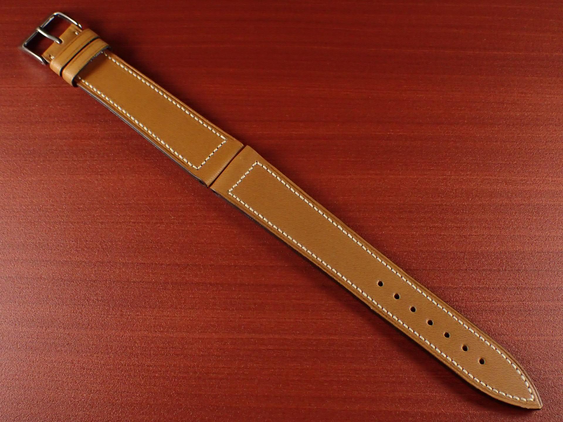 ジャン・クロード ペラン革ベルト カーフ キャメル 16、17、18、19、20mmのメイン写真