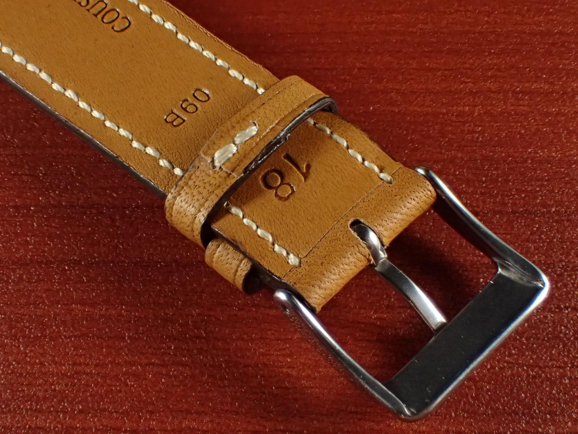 ジャン・クロード ペラン革ベルト カーフ キャメル 16、17、18、19、20mmの写真4枚目