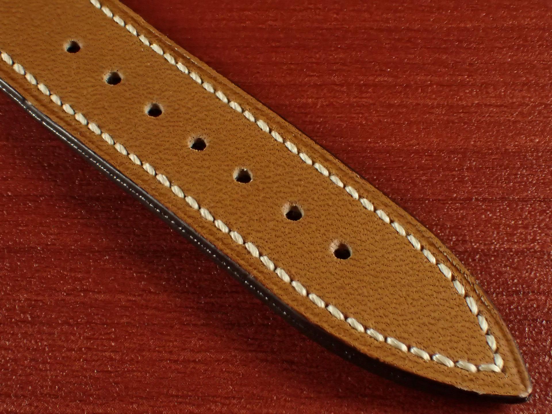 ジャン・クロード ペラン革ベルト カーフ キャメル 16、17、18、19、20mmの写真5枚目