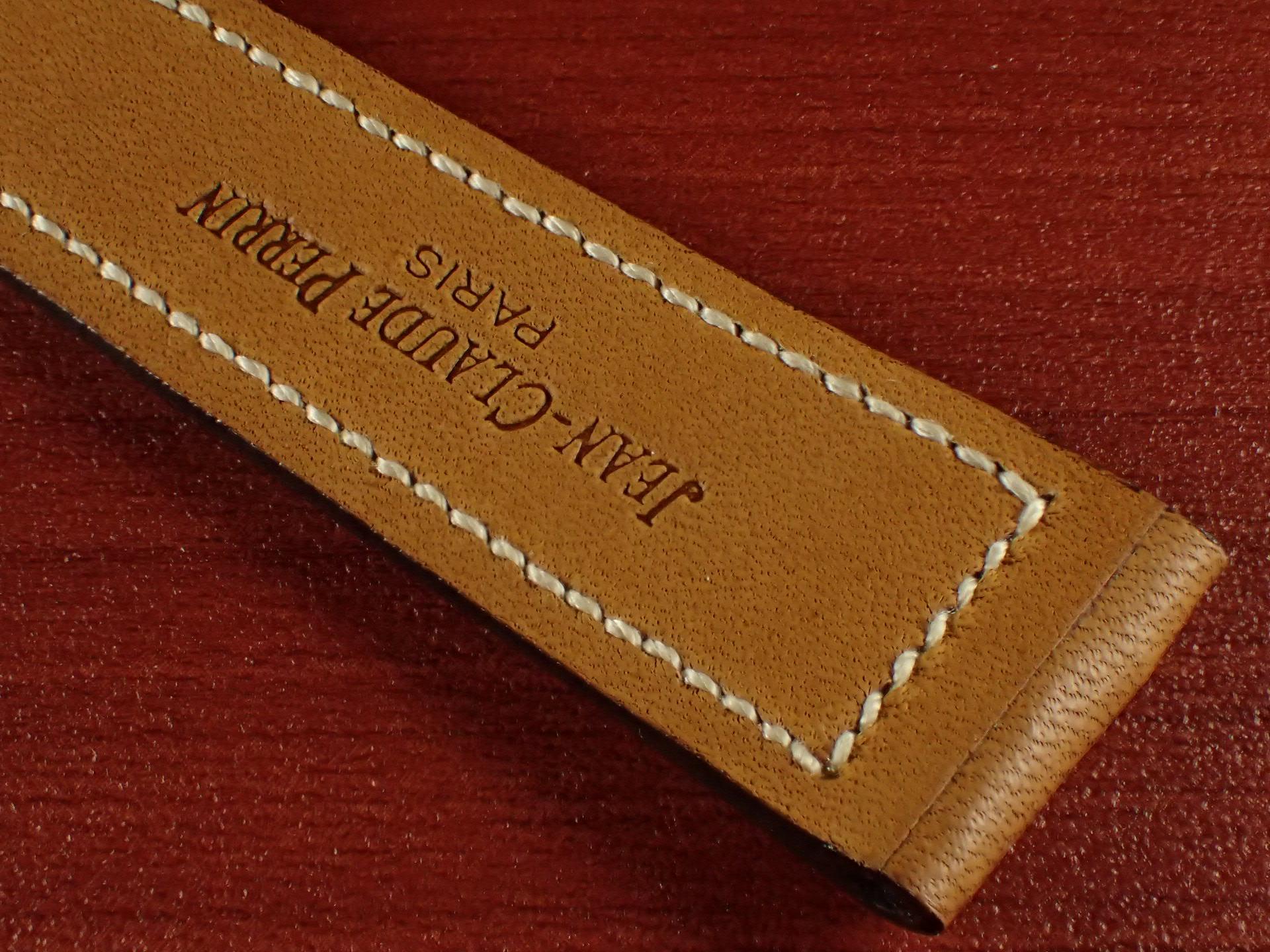 ジャン・クロード ペラン革ベルト カーフ キャメル 16、17、18、19、20mmの写真6枚目