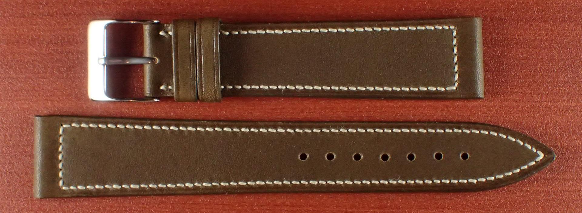 ジャン・クロード ペラン革ベルト カーフ オリーブ 16、17、18、19、20mm