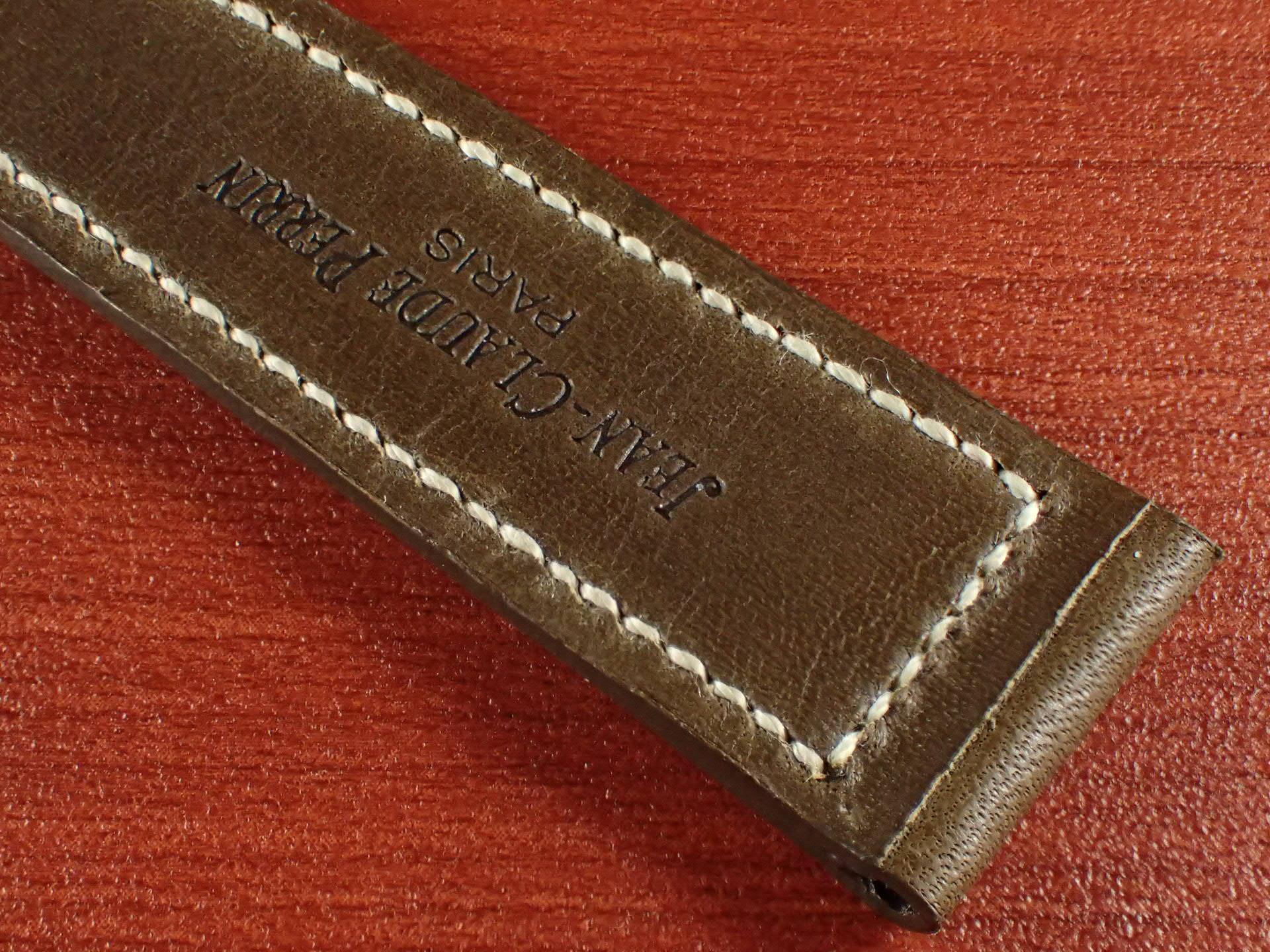 ジャン・クロード ペラン革ベルト カーフ オリーブ 16、17、18、19、20mmの写真6枚目