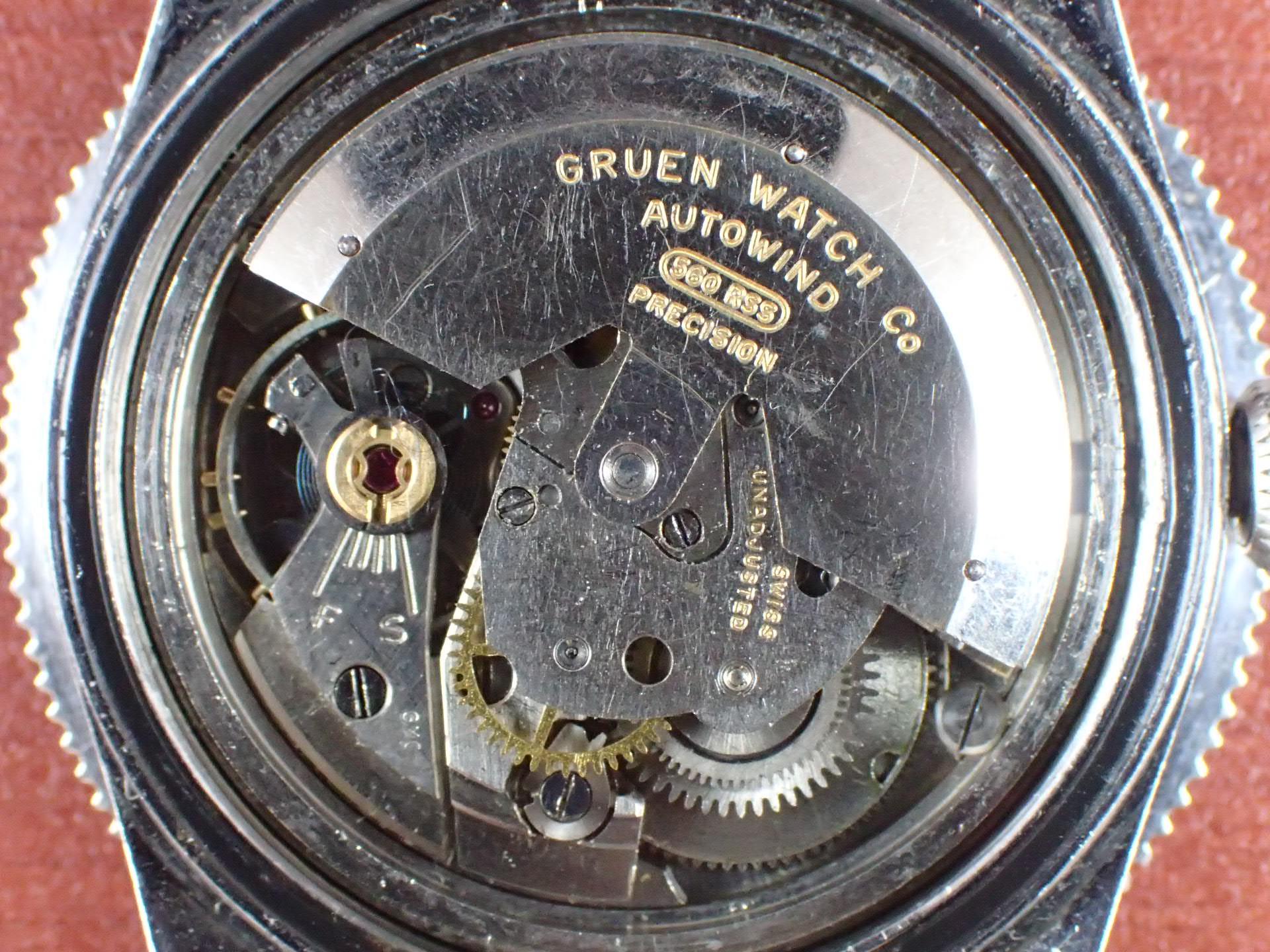 グリュエン オーシャンチーフ ダイバーズウォッチ ブラックミラーDL 1950年代の写真5枚目