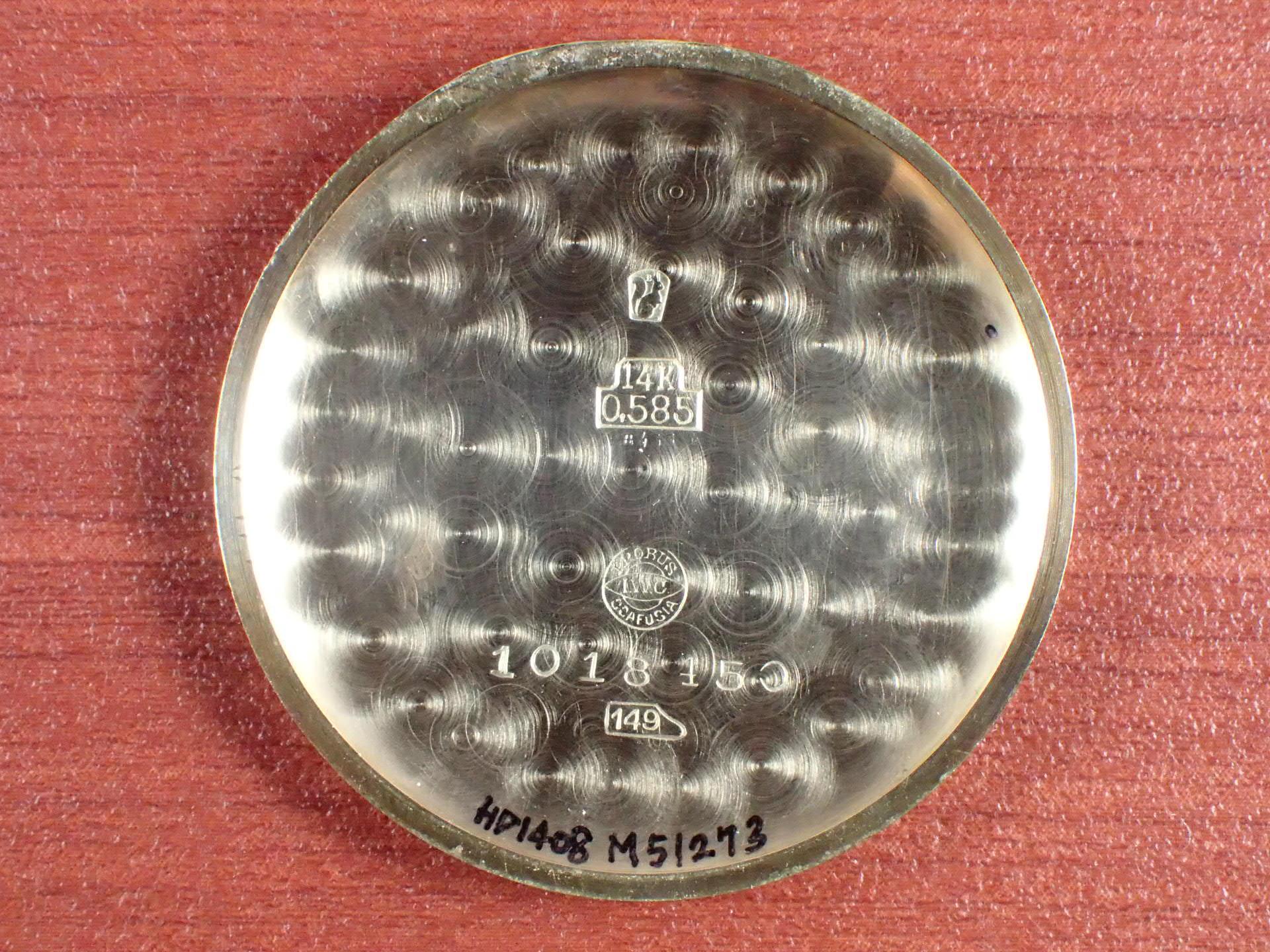 IWC インター 14KYG Cal.83 フーデッドフレキシブルラグ 1930年代の写真6枚目
