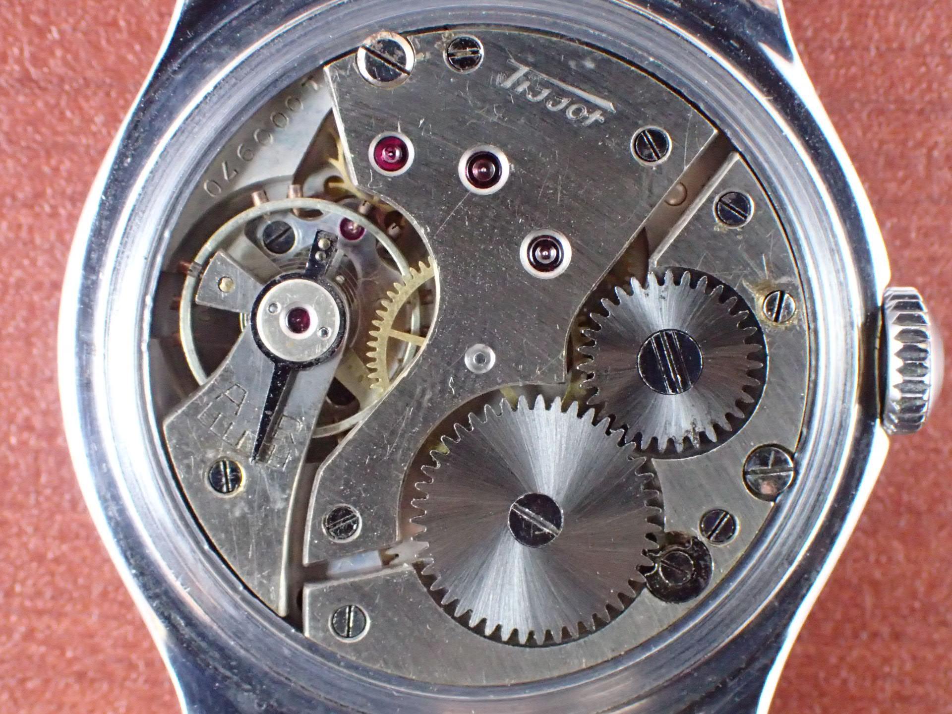 ティソ セクターデザイン Cal.27 ブラックダイアル 1930年代の写真5枚目