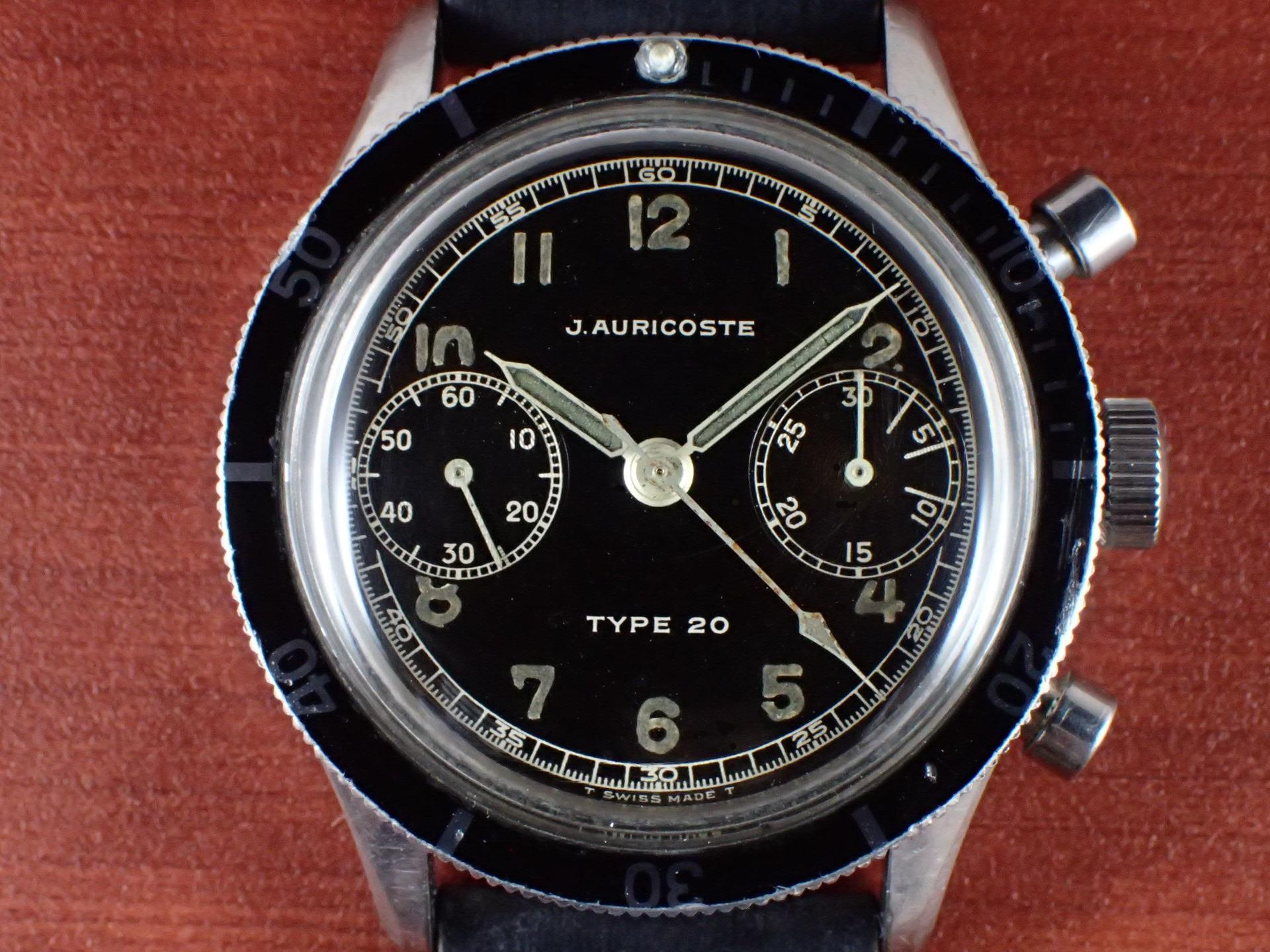 アウリコスト タイプ20 パイロットウォッチ フライバック クロノグラフ 1960年代の写真2枚目