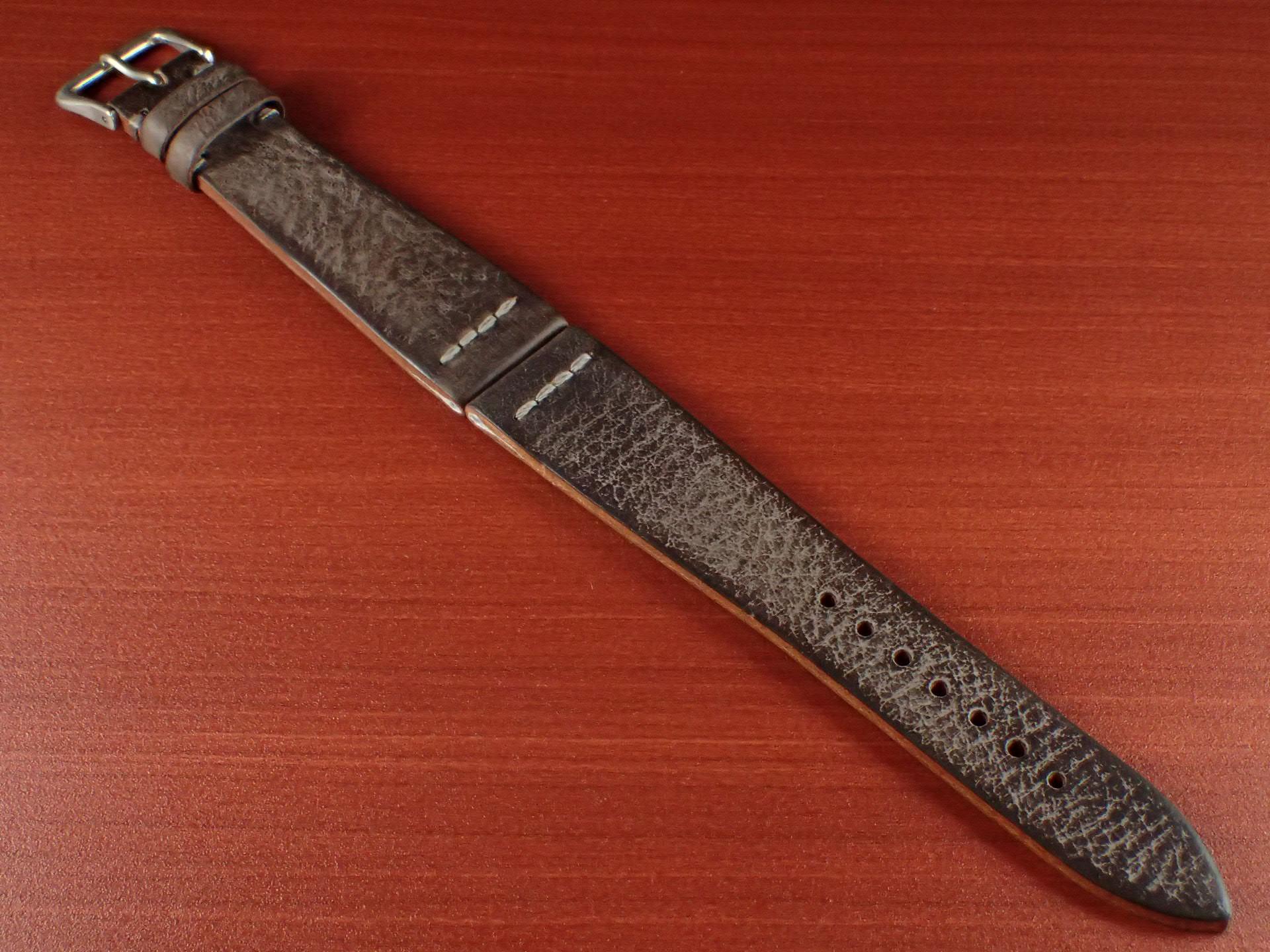 ブライドルレザーベルト ラ・ペルラ・アッズーラ アラスカ 一文字ステッチ ダークブラウン 18、20mmのメイン写真