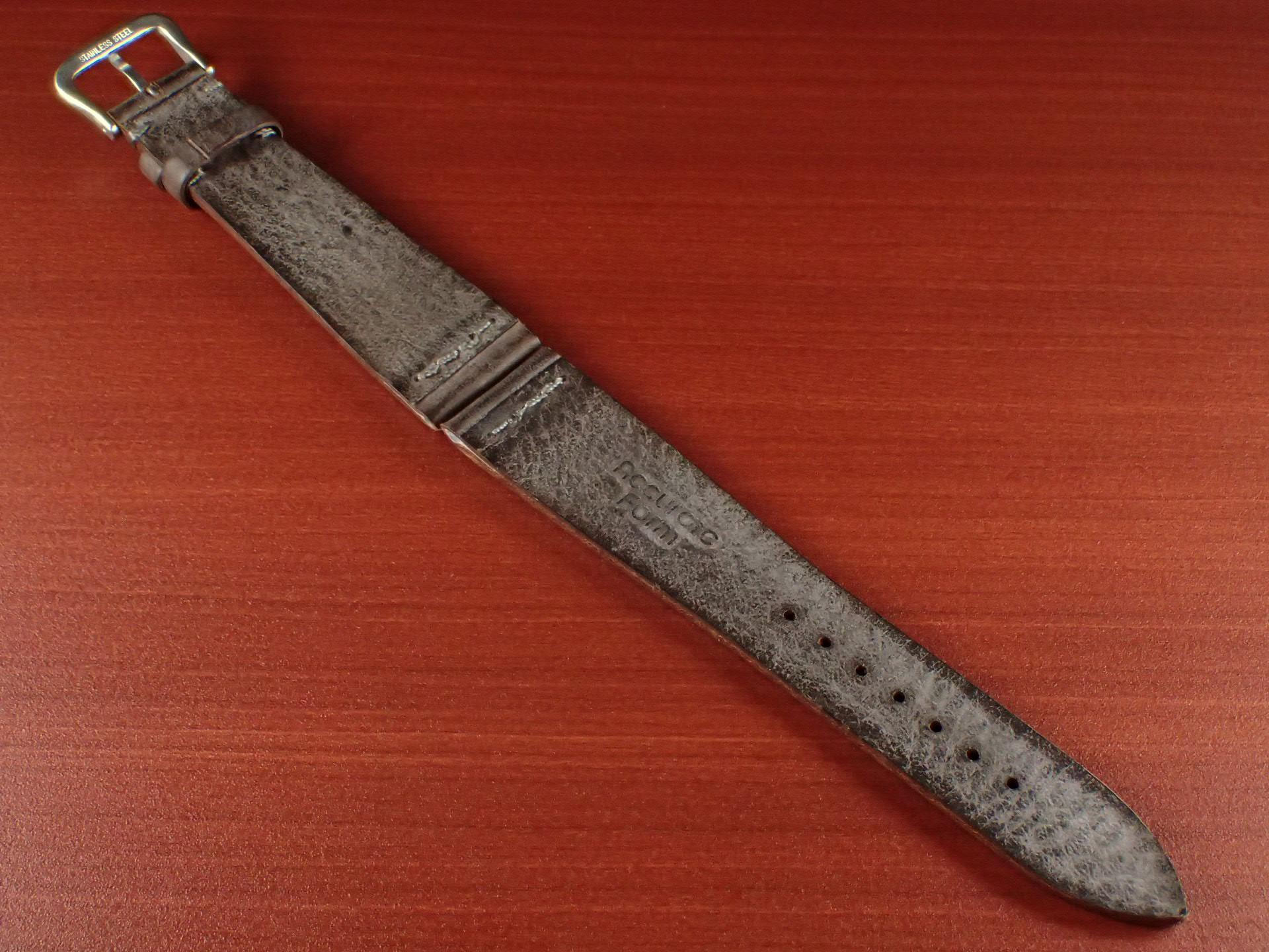 ブライドルレザーベルト ラ・ペルラ・アッズーラ アラスカ 一文字ステッチ ダークブラウン 18、20mmの写真2枚目