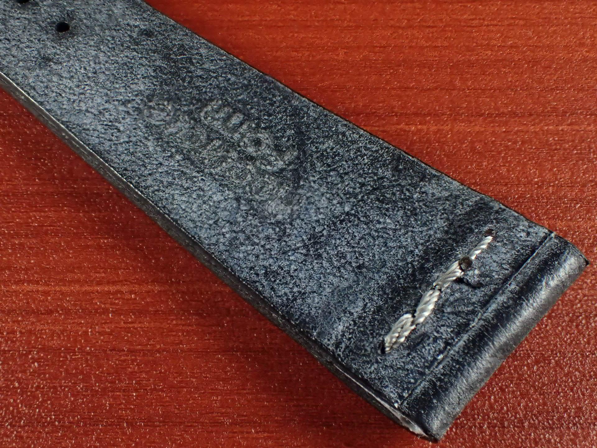 ブライドルレザーベルト ラ・ペルラ・アッズーラ アラスカ 一文字ステッチ ブラック 18、20mmの写真6枚目