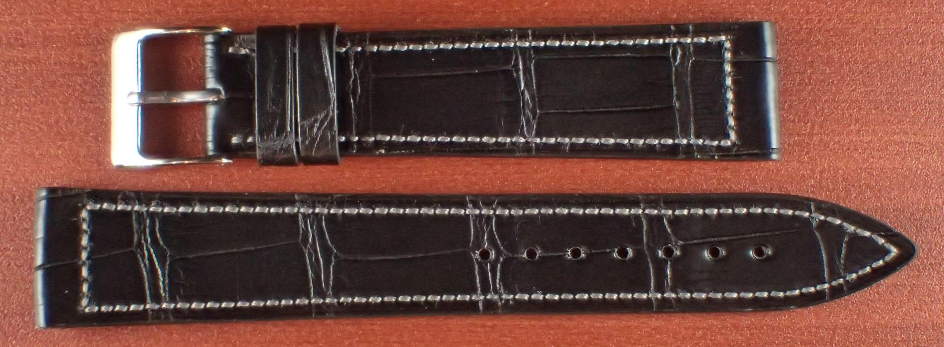 ジャン・クロード ペラン革ベルト クロコダイル ブラック 18mm