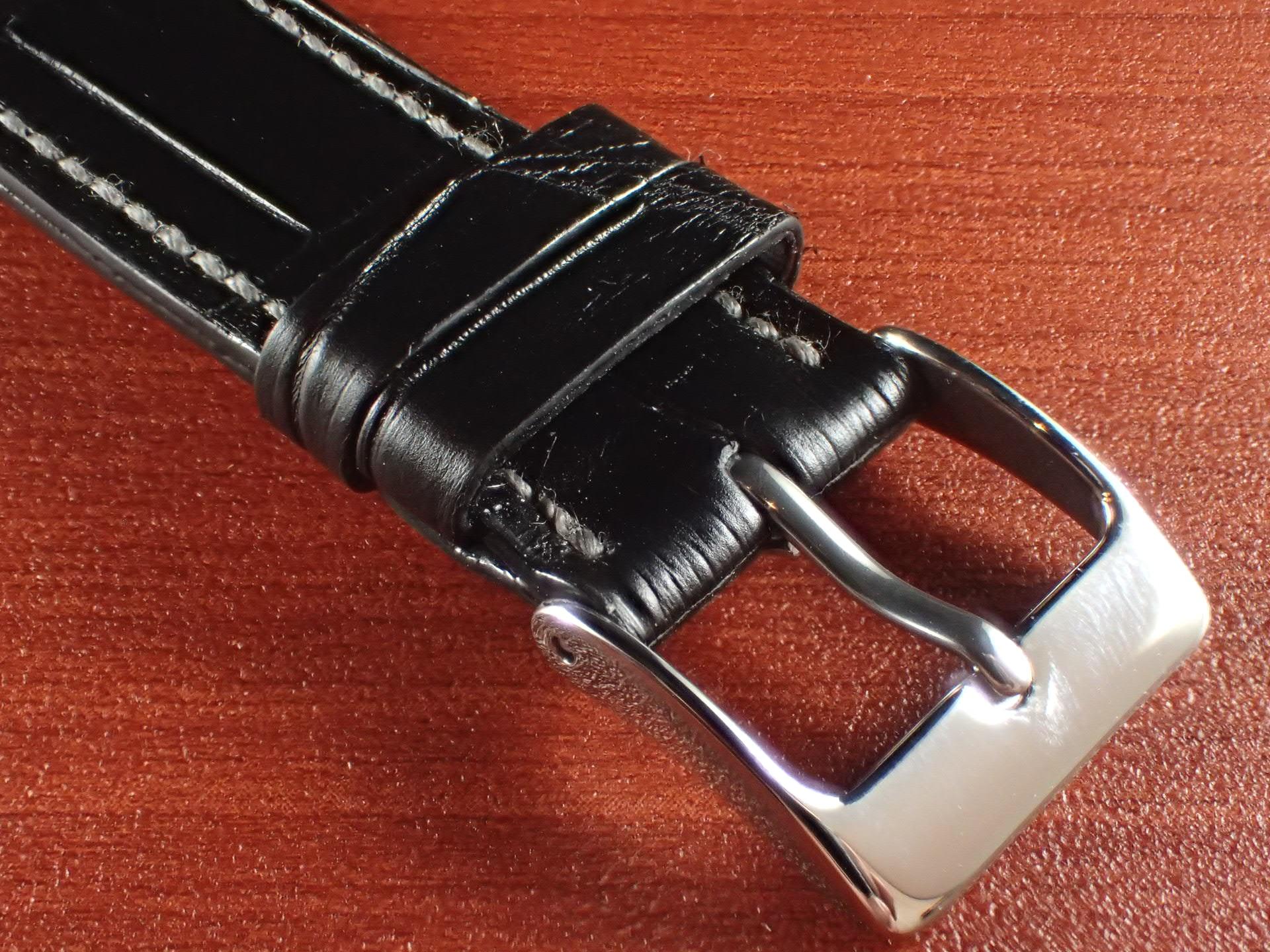 ジャン・クロード ペラン革ベルト クロコダイル ブラック 18mmの写真3枚目