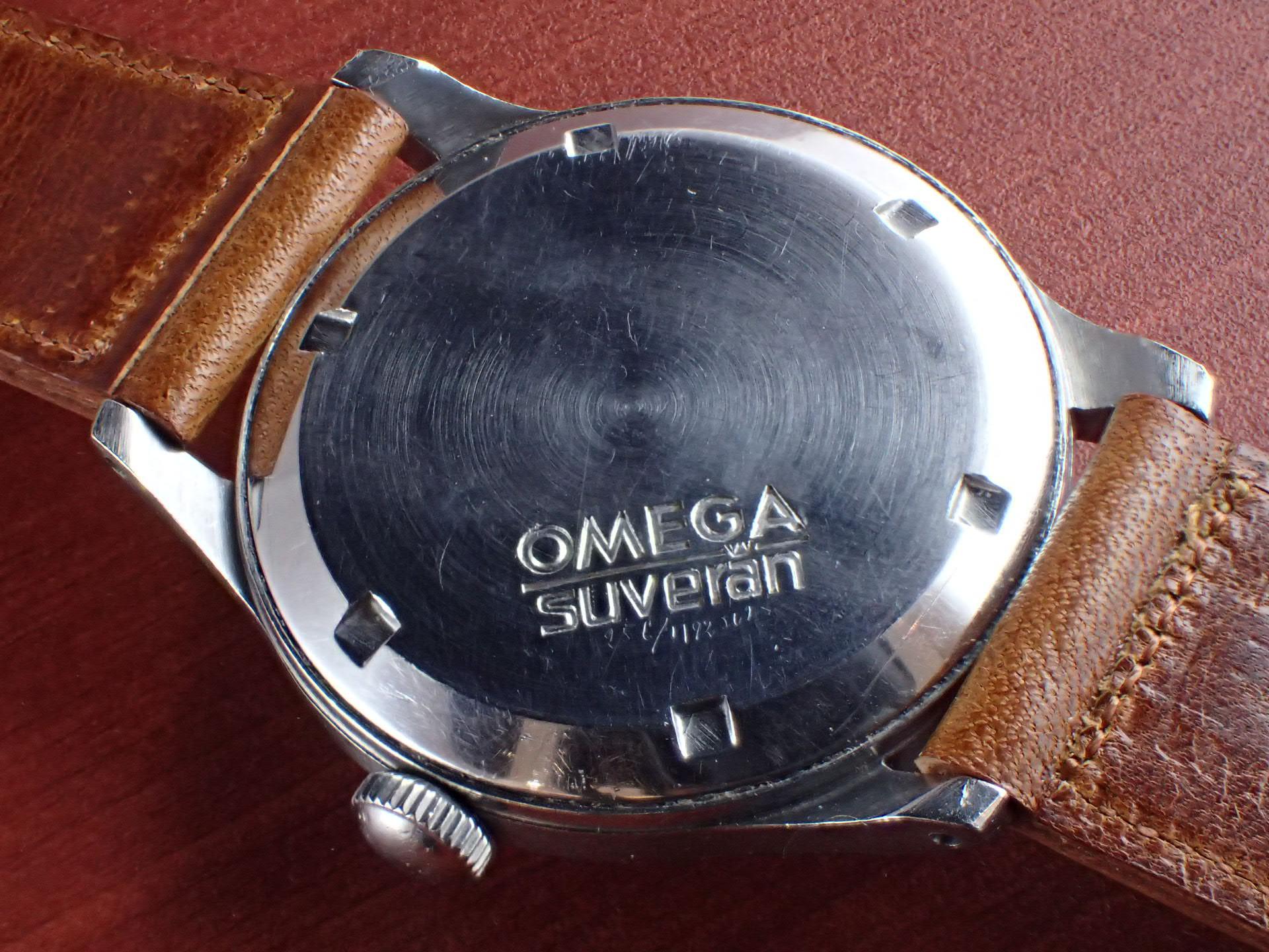 オメガ 30mmキャリバー スベラン ブルズアイ ブラック/ホワイト 1940年代の写真4枚目