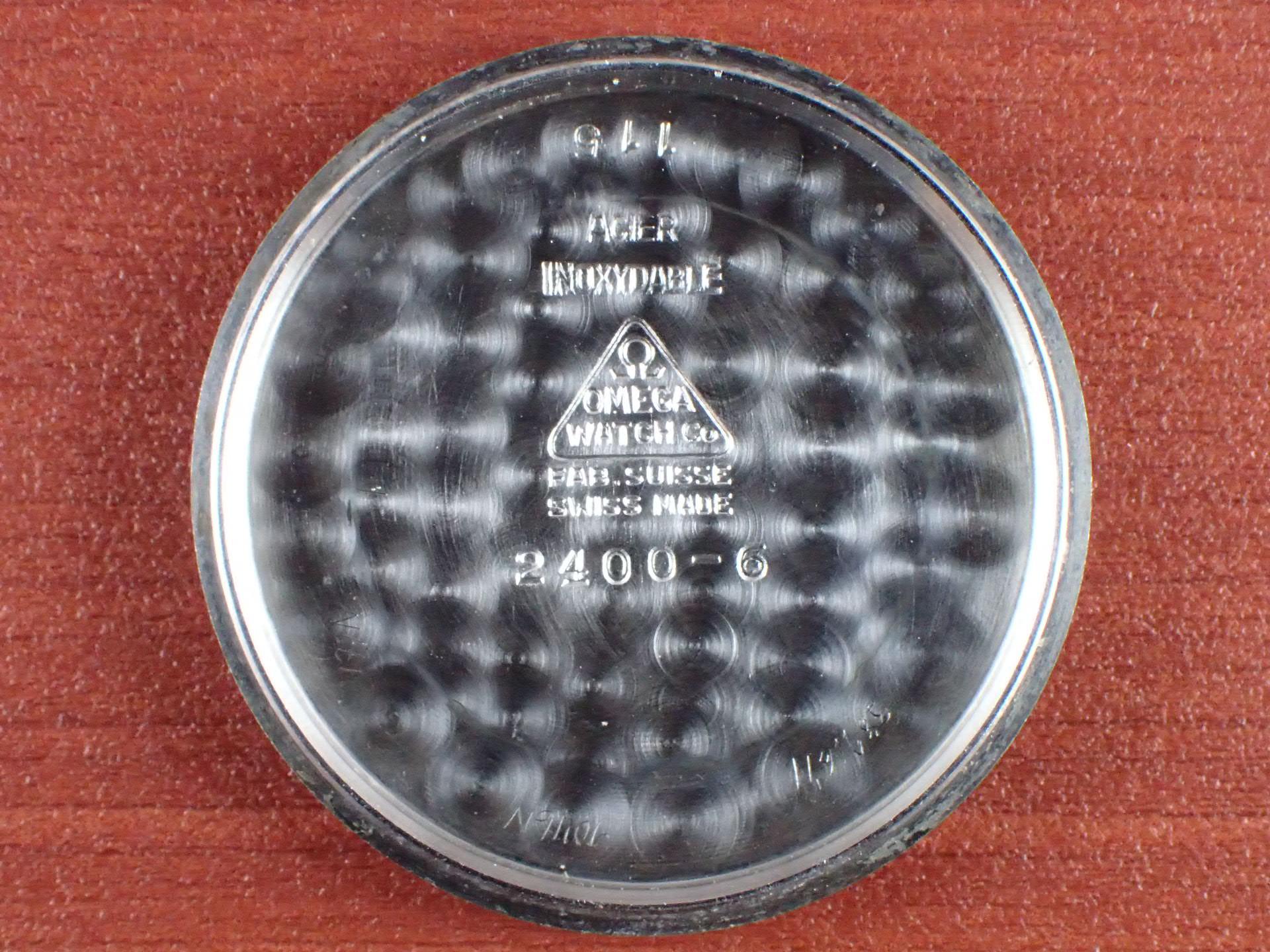 オメガ 30mmキャリバー スベラン ブルズアイ ブラック/ホワイト 1940年代の写真6枚目
