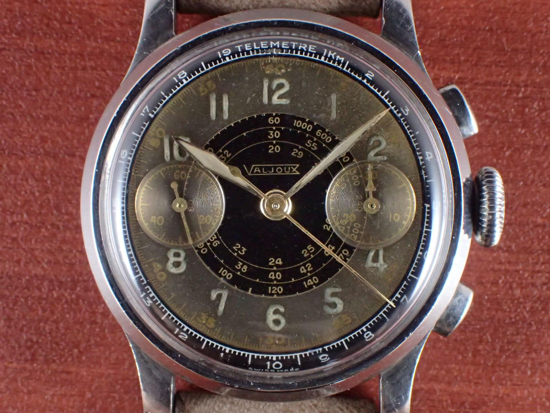 バルジュー クロノグラフ Cal.ValjouxVZ 2トーンダイアル 1940年代の写真2枚目