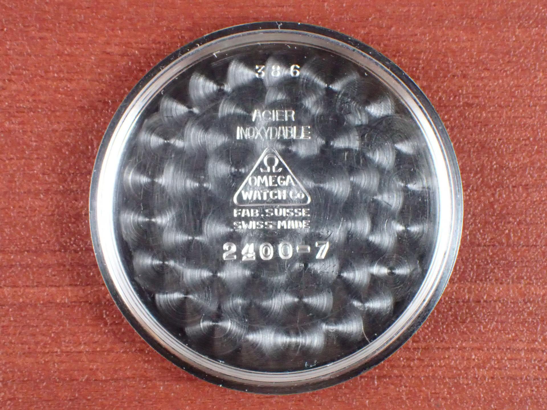 オメガ スベラン 30mmキャリバー ブルズアイ ブラック/グレー 1940年代の写真6枚目