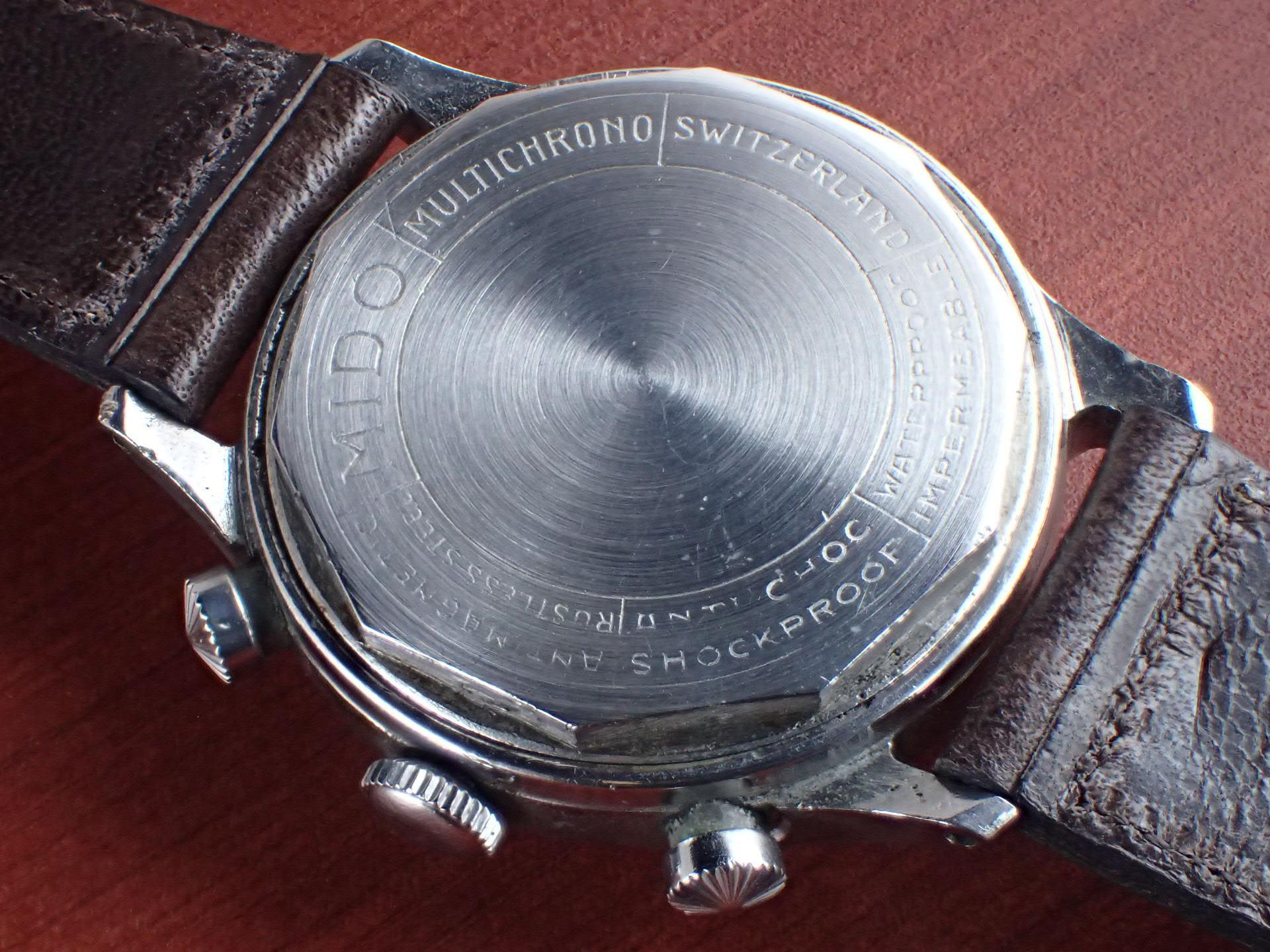 ミドー マルチクロノ Cal.Minerva 13-20CH ブラックダイアル 1940年代の写真4枚目