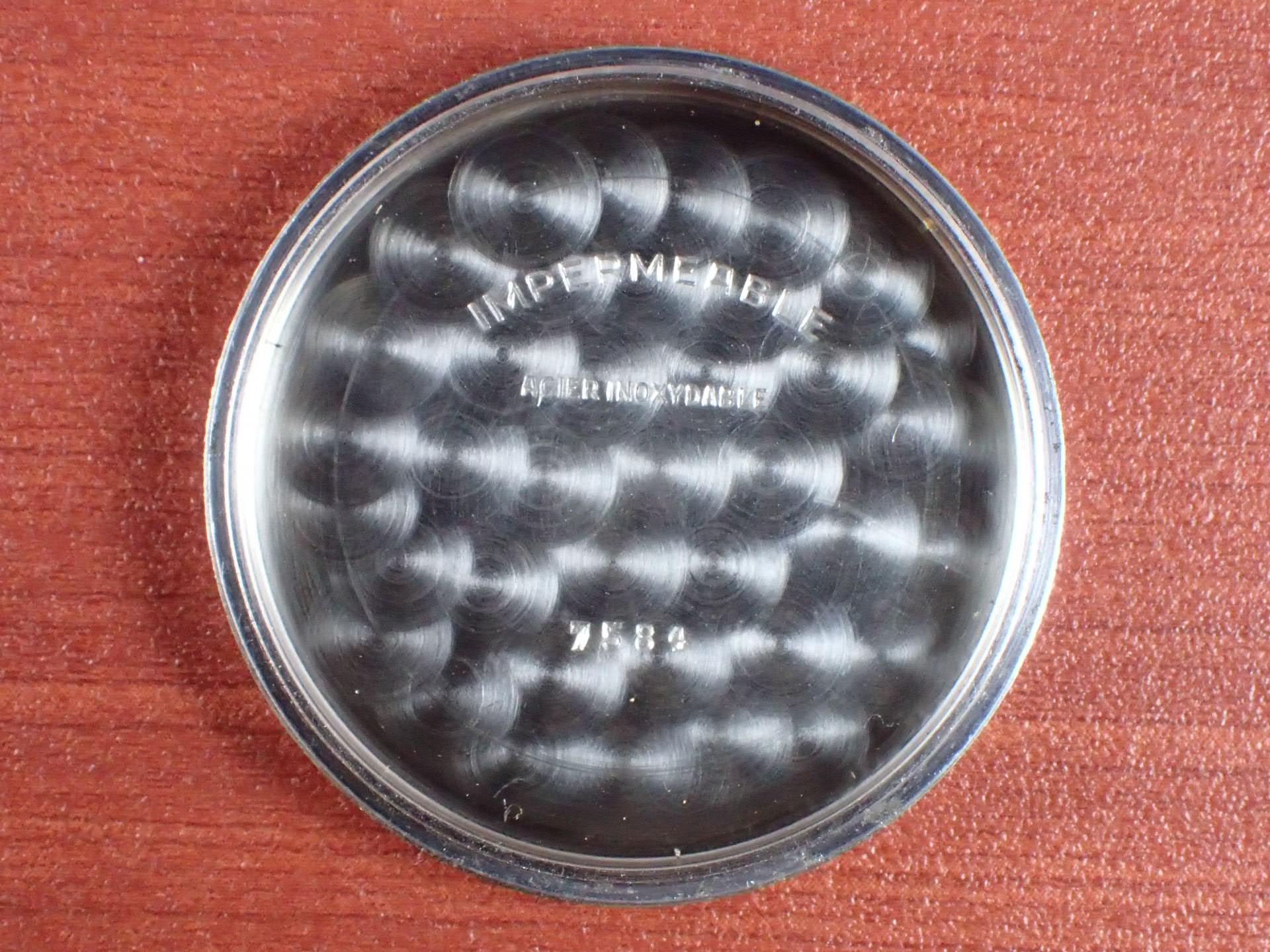 無銘 クロノグラフ Cal.Venus170 ブラックミラーダイアル 1940年代の写真6枚目