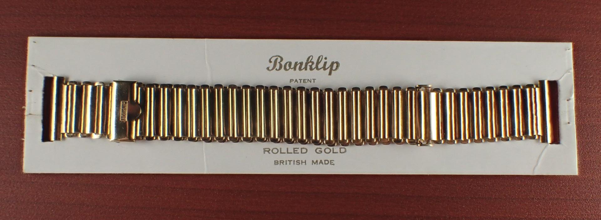 ボンクリップ バンブーブレス NOS リンク16mm 取付18mm YGF 1940年代