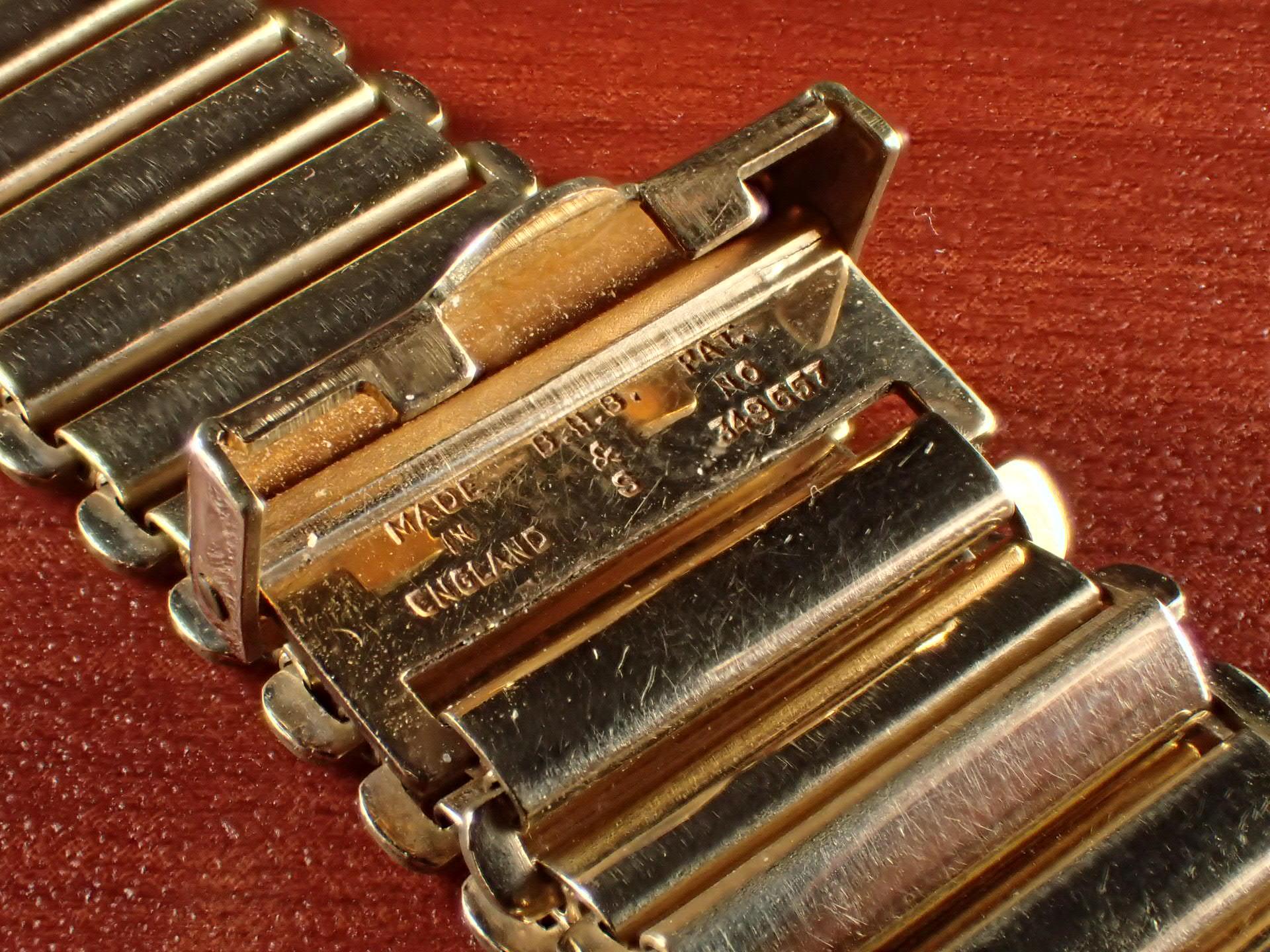 ボンクリップ バンブーブレス NOS リンク16mm 取付18mm YGF 1940年代の写真3枚目
